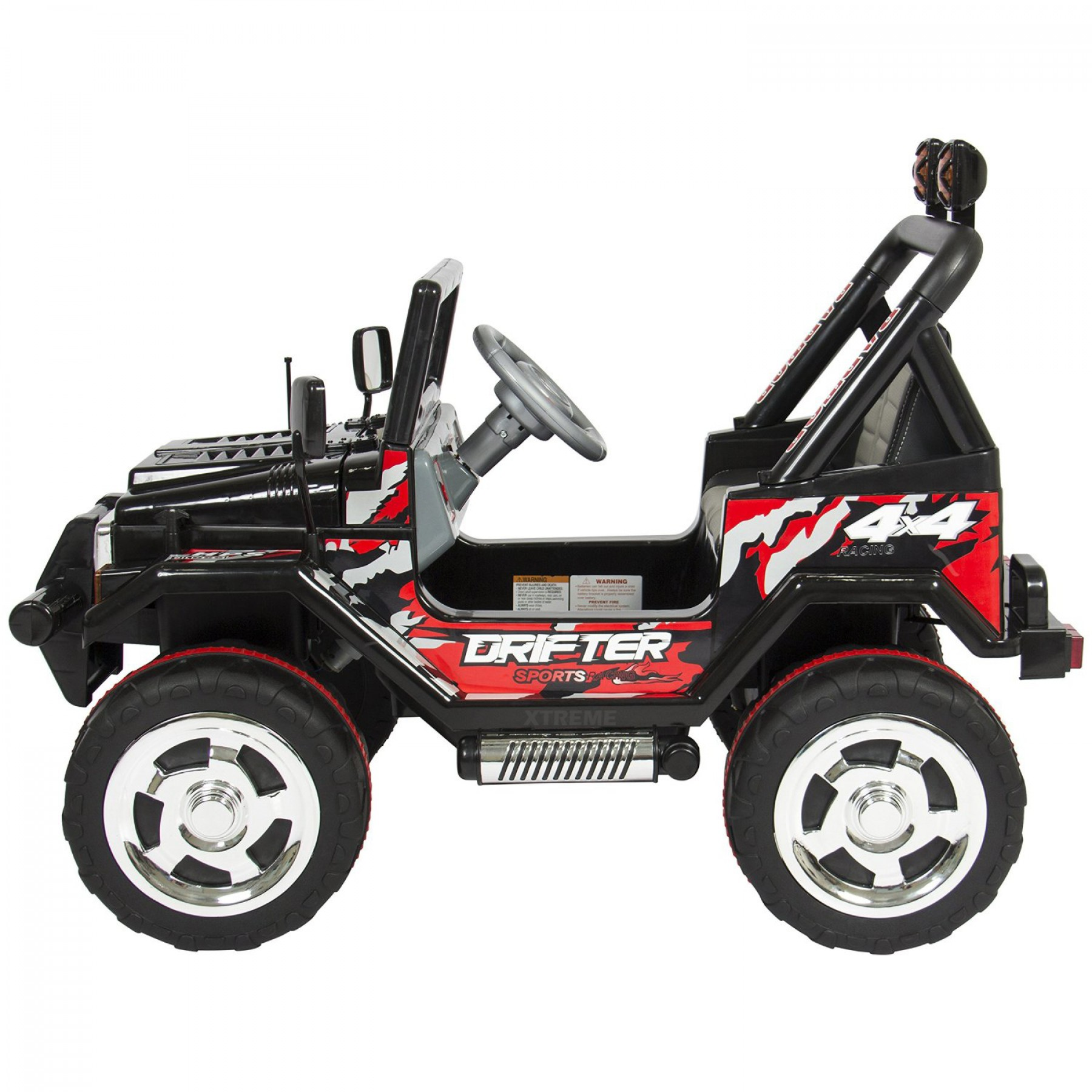 Xtreme 12v Ride on Off-Road Jeep in Black