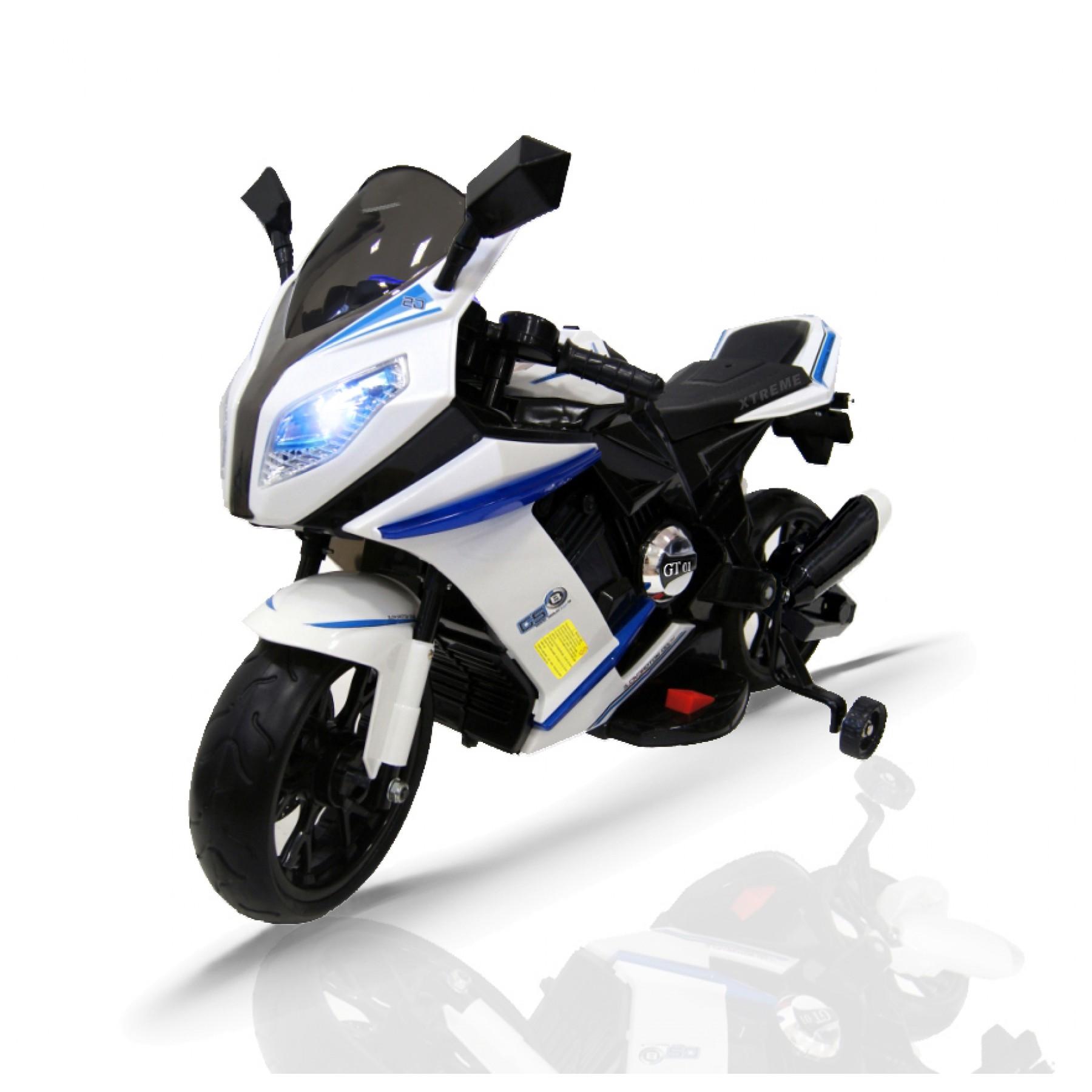 12v Xtreme Electric Motorbike Ride on Road Bike in White