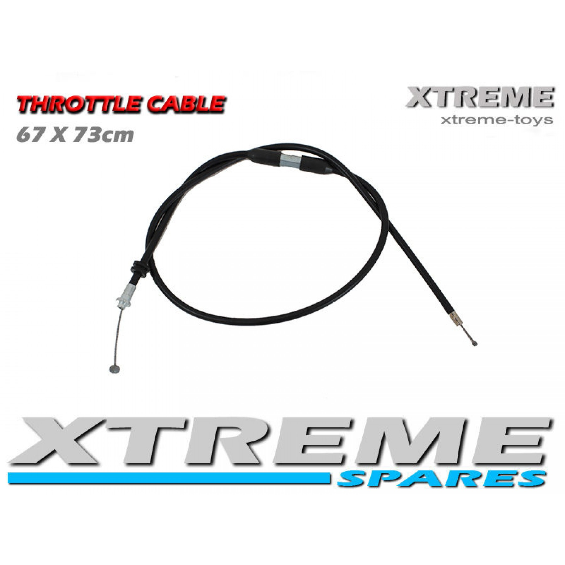 MINI MOTO / DIRT BIKE / QUAD 67x73  ADJUSTABLE THROTTLE CABLE 49 - 50