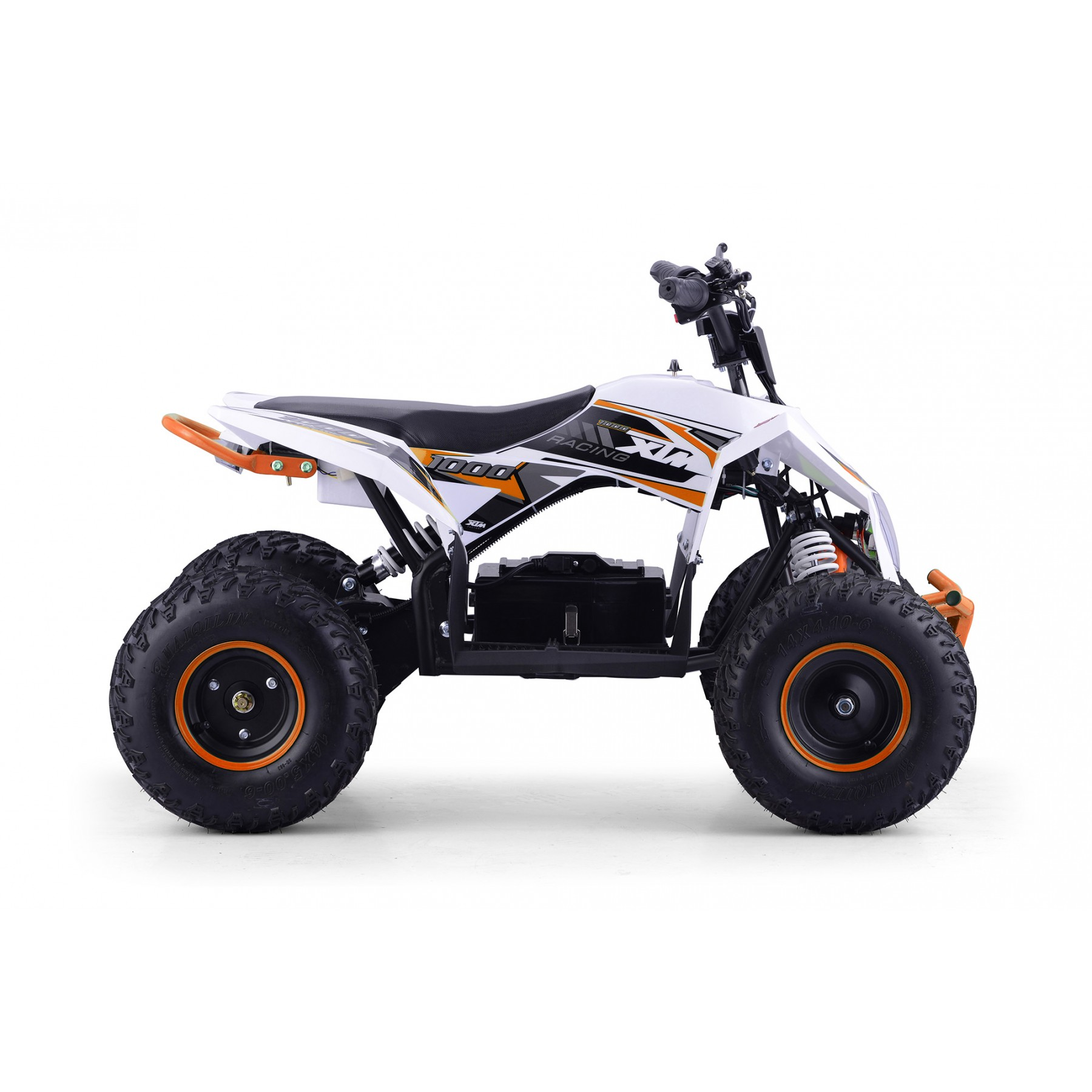 XTM RACING 48v 1300w LITHIUM QUAD BIKE WHITE ORANGE