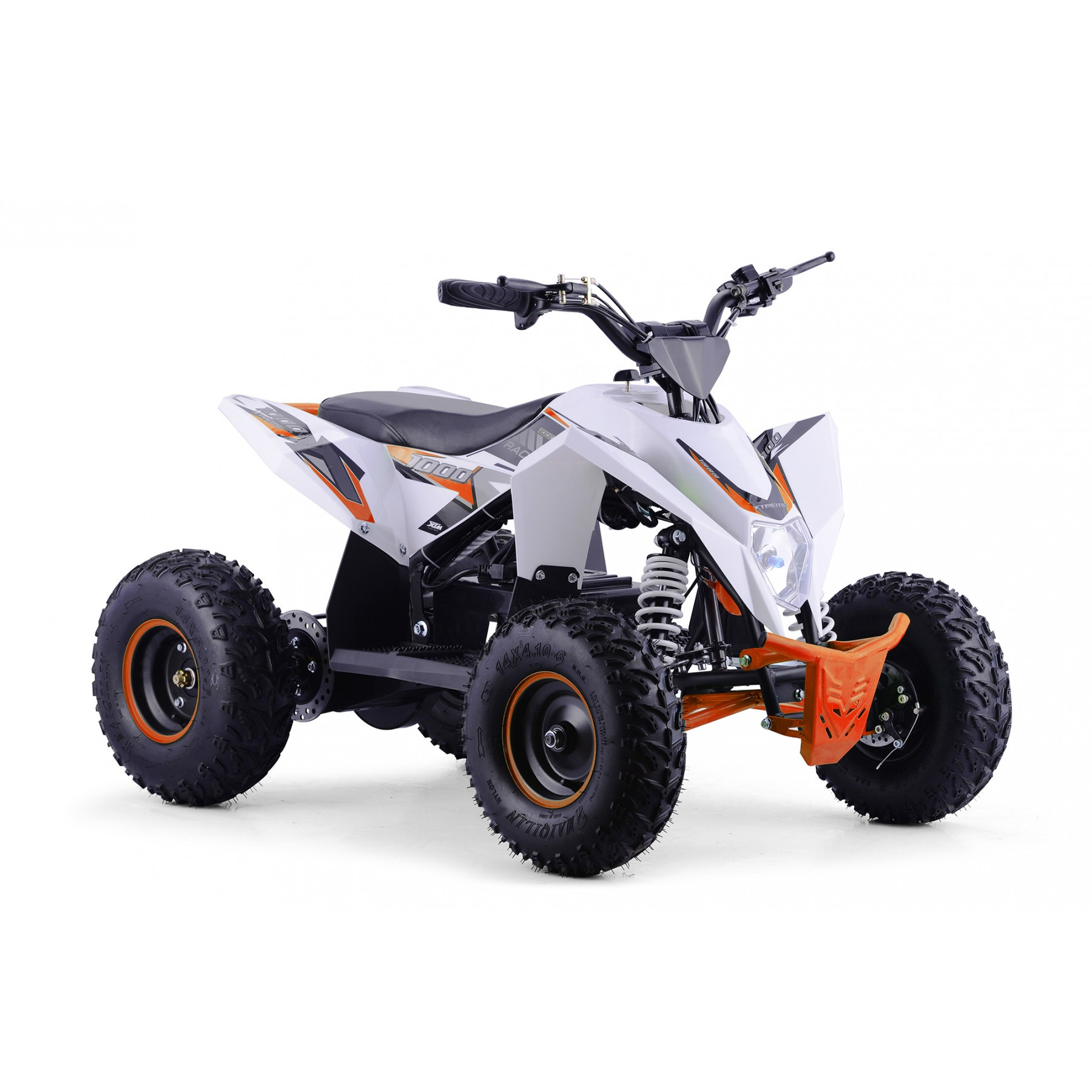 XTM RACING 1000w QUAD BIKE WHITE ORANGE