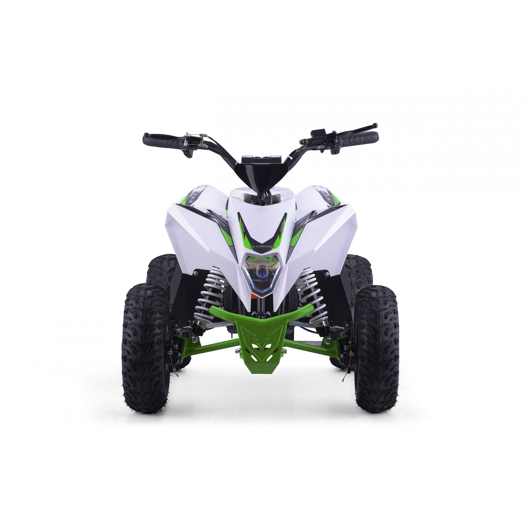 XTM RACING 48v 1300w LITHIUM QUAD BIKE WHITE GREEN