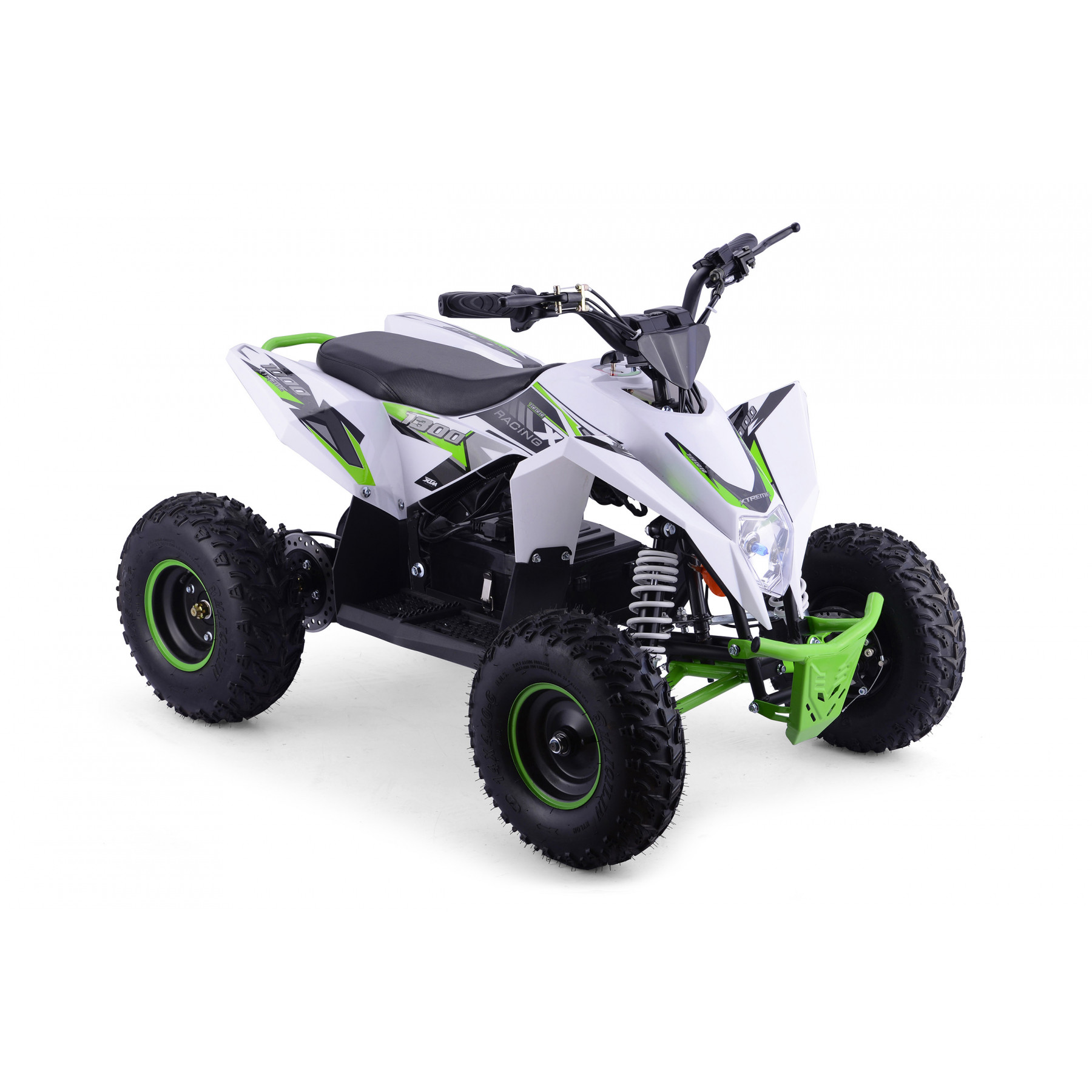 XTM RACING 48v 1300w LITHIUM QUAD BIKE WHITE GREEN