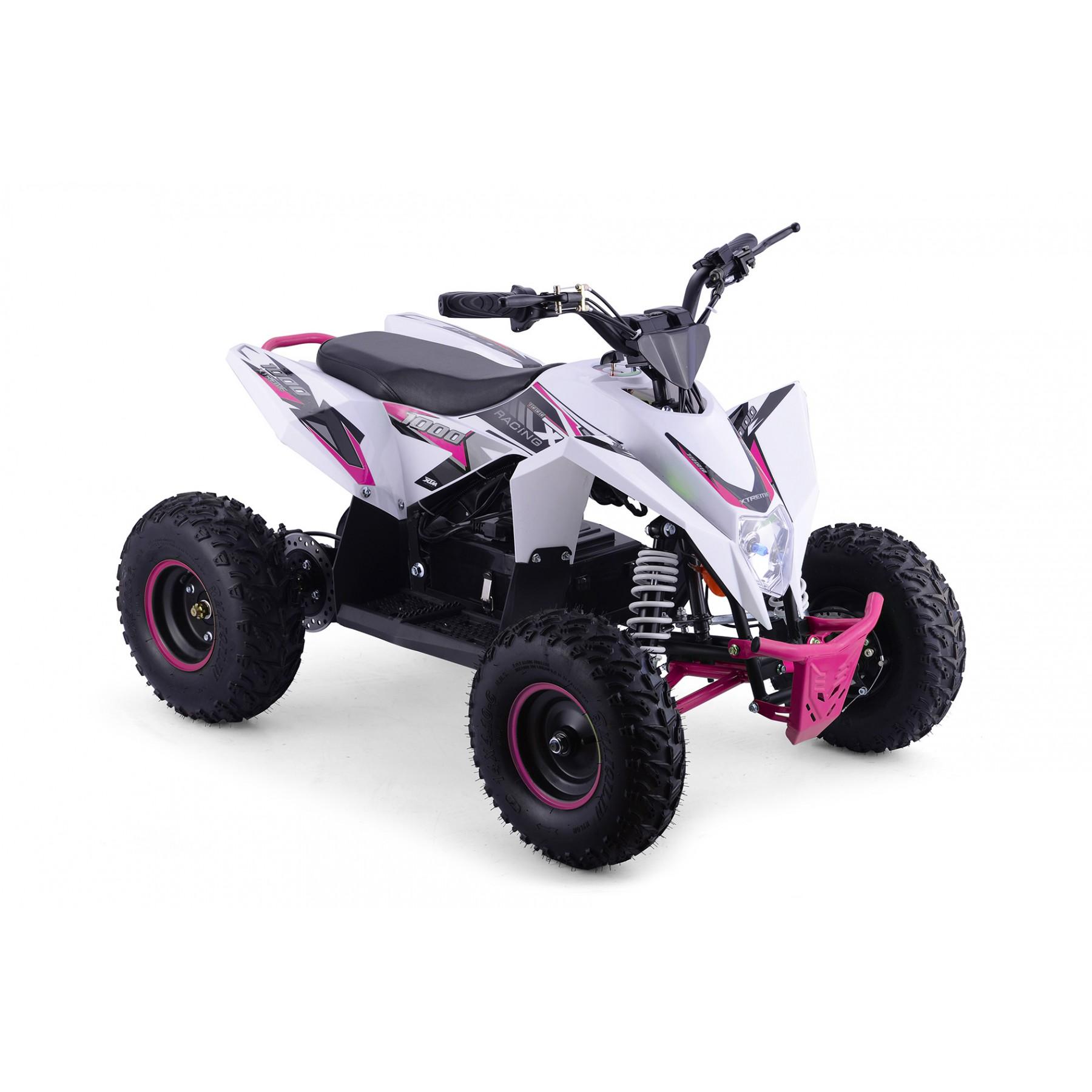 XTM RACING 1000w QUAD BIKE WHITE PINK