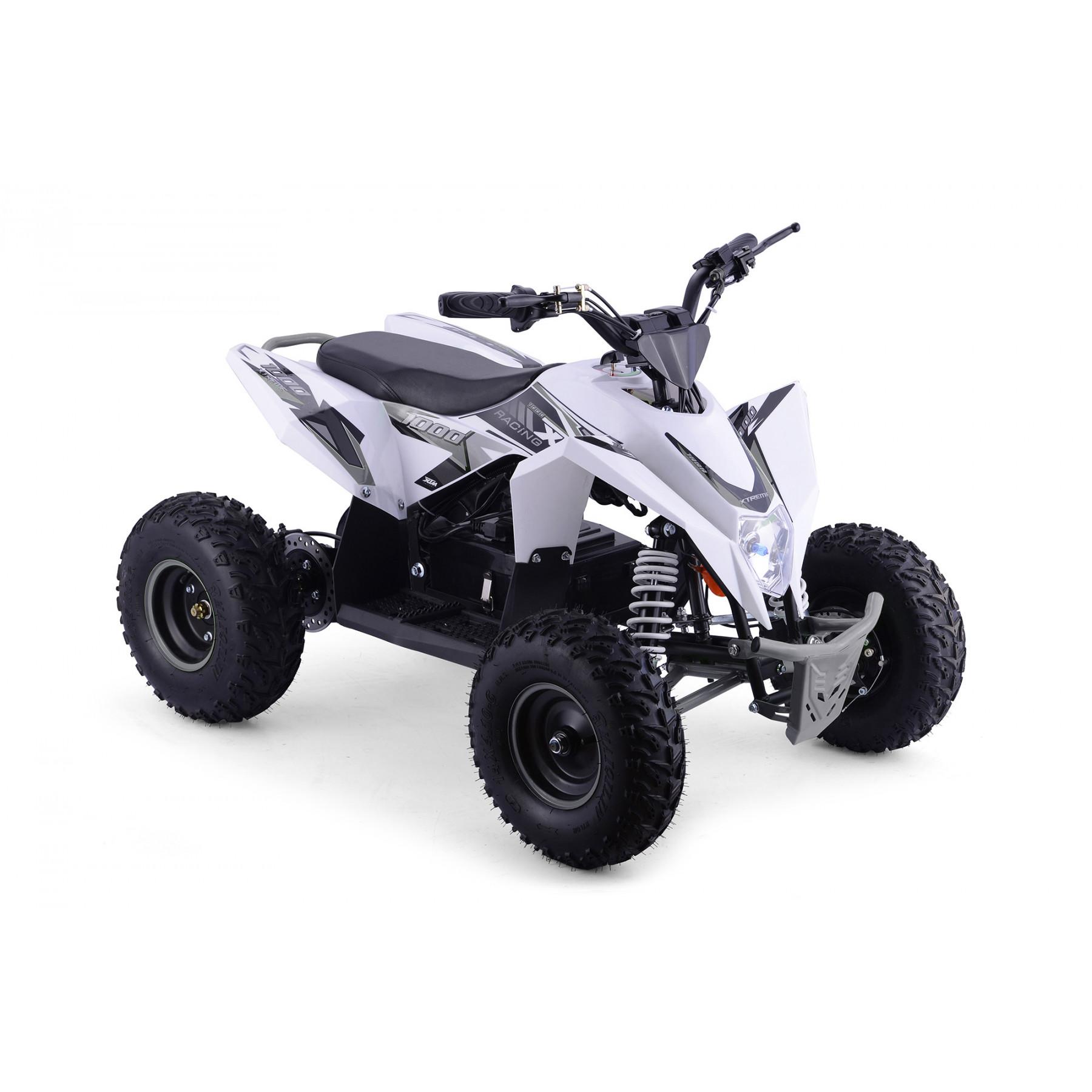 XTM RACING 1000w QUAD BIKE WHITE SILVER