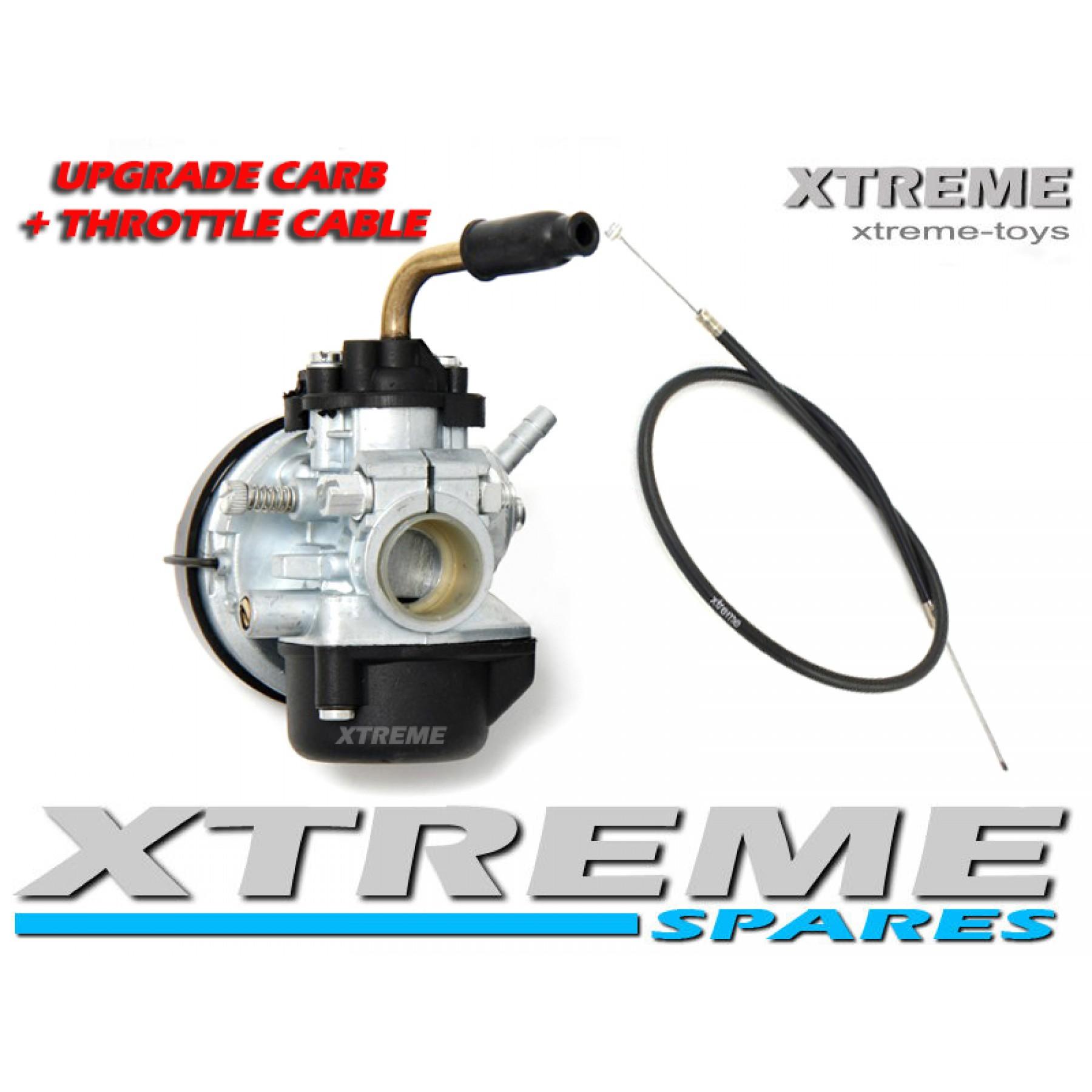 MINI MOTO/ DIRT BIKE/ QUAD PERFORMANCE UPGRADE 15MM CARBURETTOR + THROTTLE CABLE