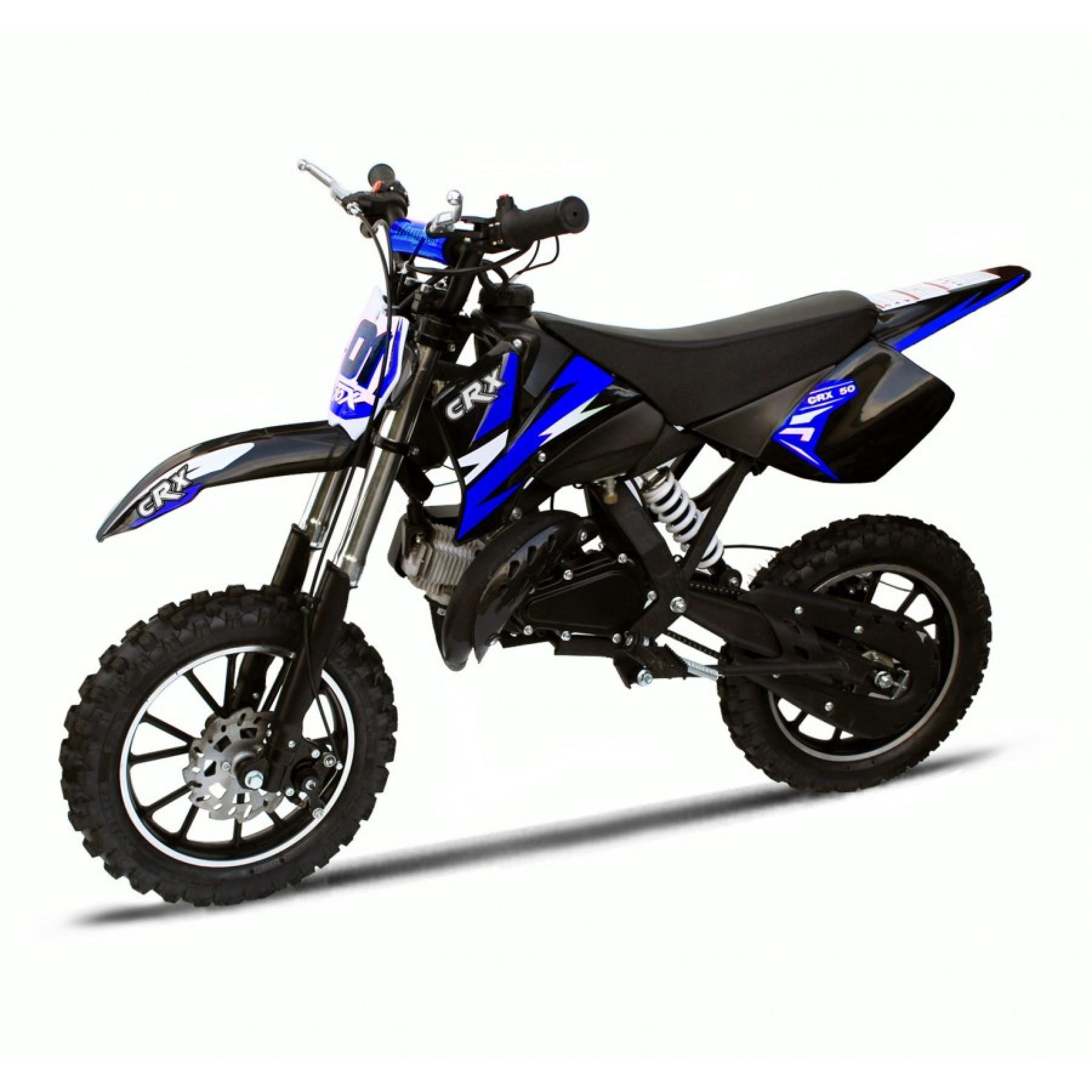 MINI DIRT BIKE XTM CRX 50 STICKER KIT / DECALS / TRANSFERS IN BLUE