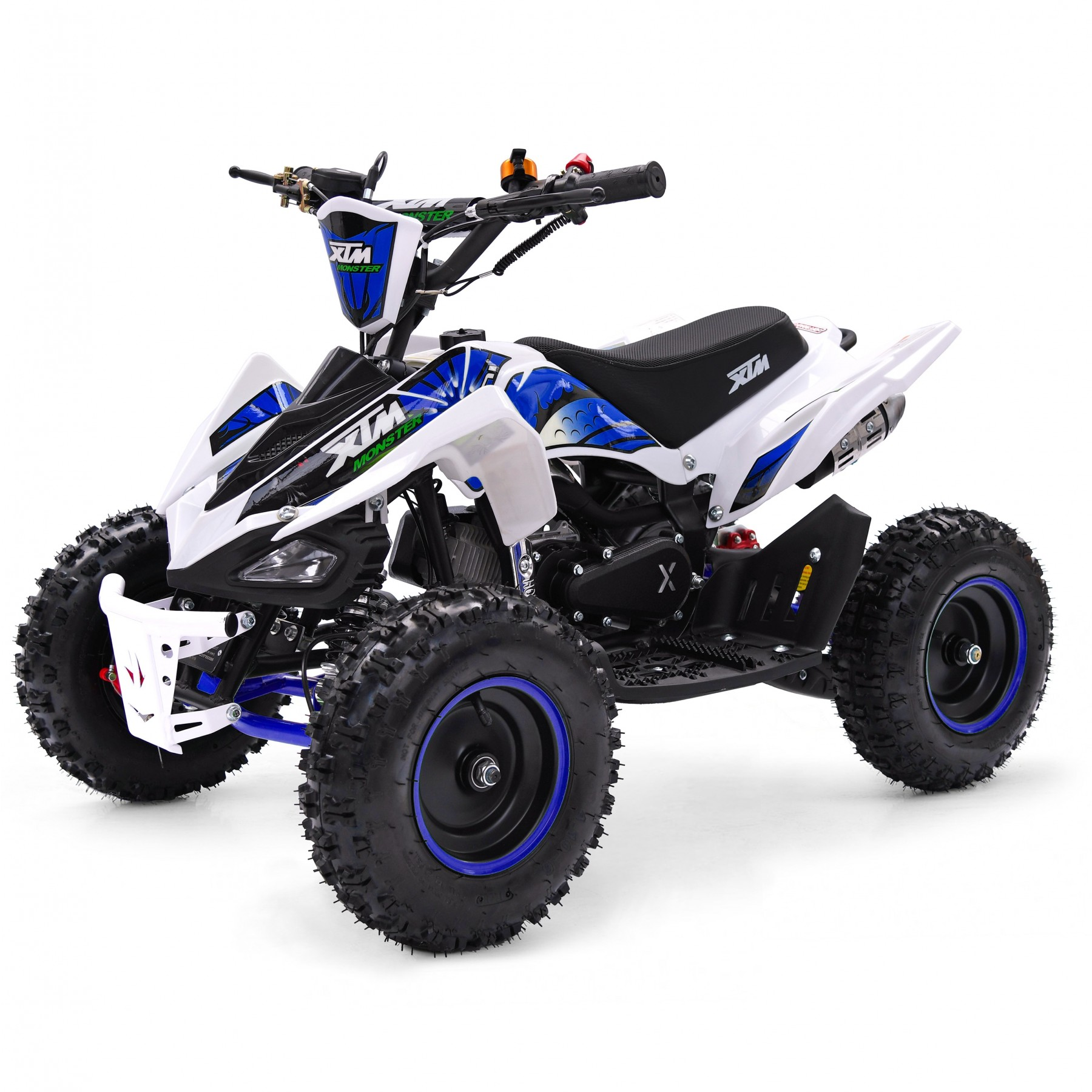XTM MONSTER 50cc QUAD BIKE WHITE BLUE
