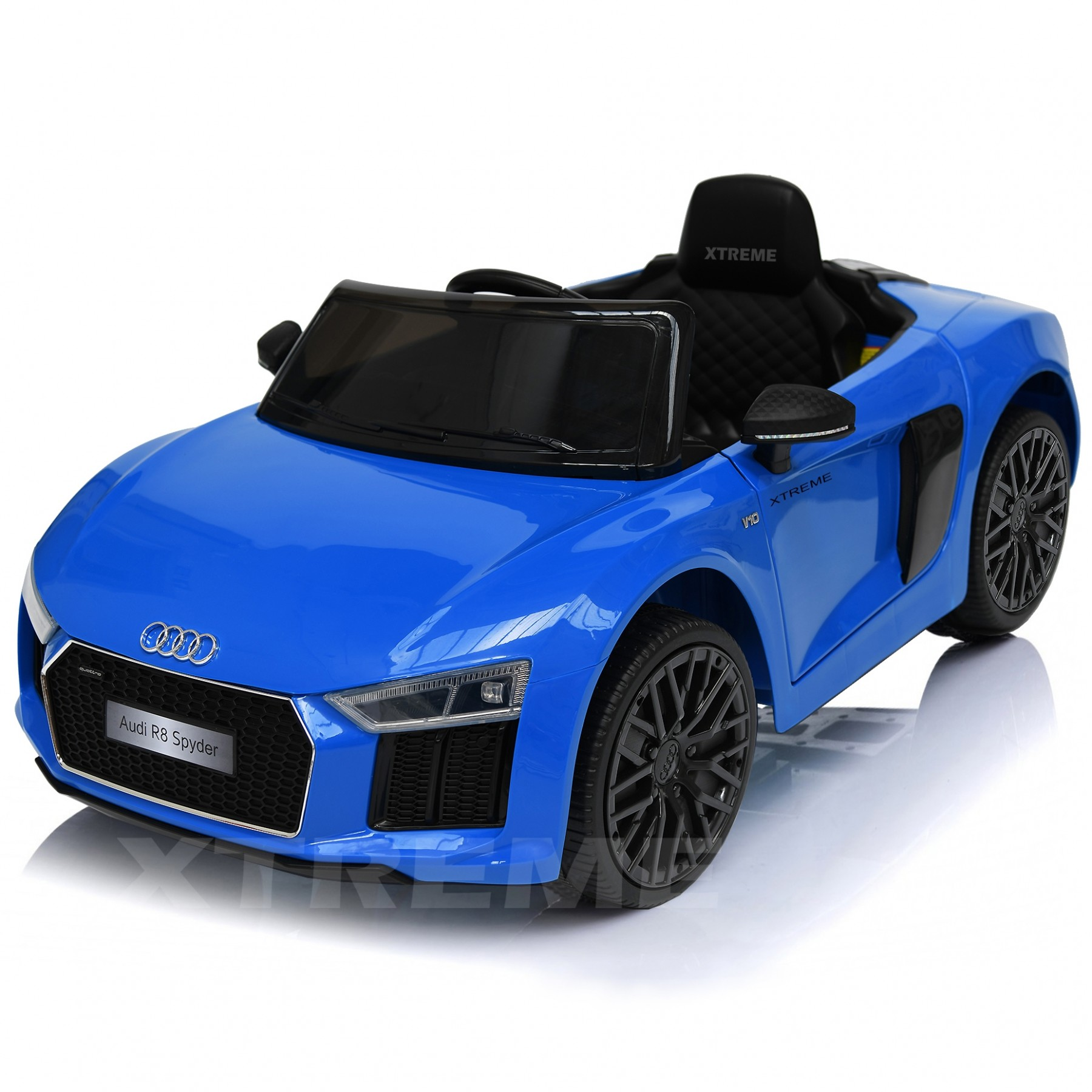 Xtreme 12v Official Licensed Audi R8 Spyder Ride on Car Blue Single Headrest