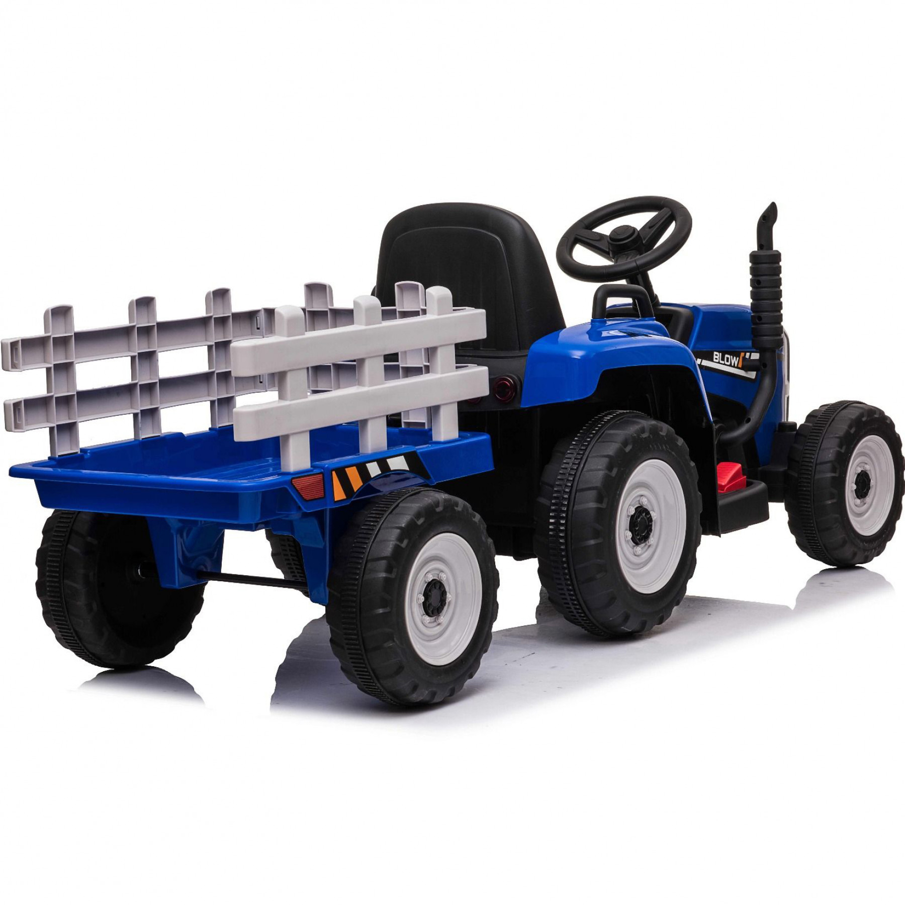 Xtreme 12V Ride on Electric Farm Tractor With Trailer And 2.4G Remote Control Blue