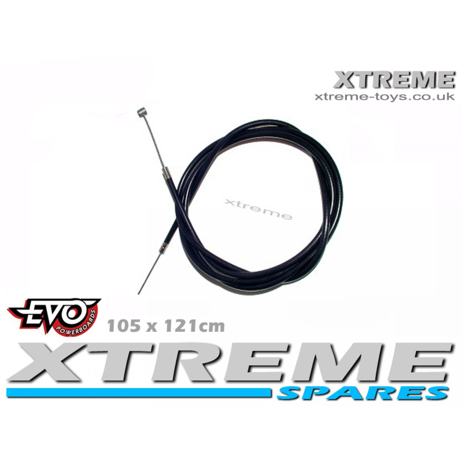 EVO PETROL SCOOTER 105x121 FRONT/ REAR BRAKE CABLE / GO PED / MOTORBOARD