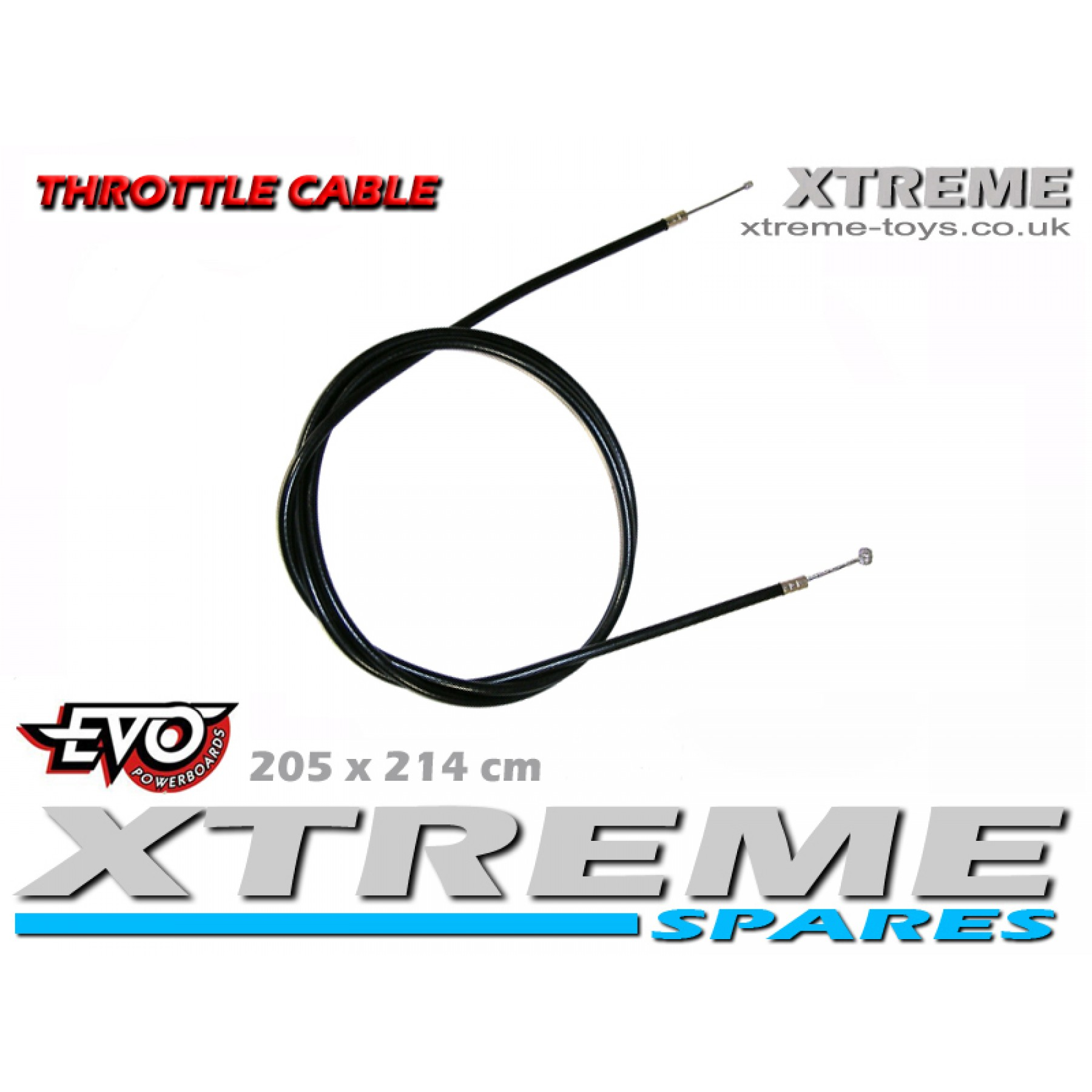 EVO PETROL SCOOTER 205 x 214cm THROTTE CABLE / GO PED / MOTORBOARD