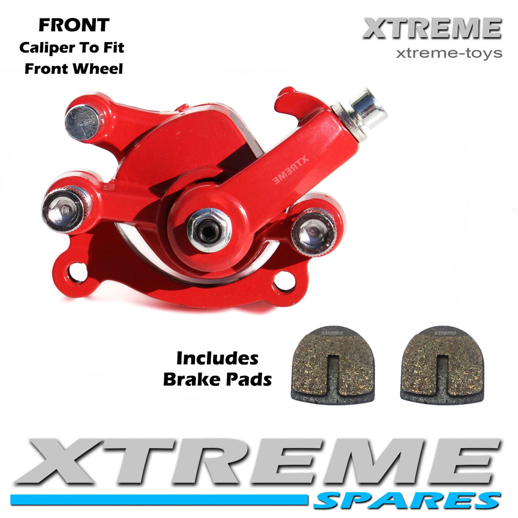 MINI MOTO DIRT BIKE RED FRONT BRAKE CALIPER 50cc