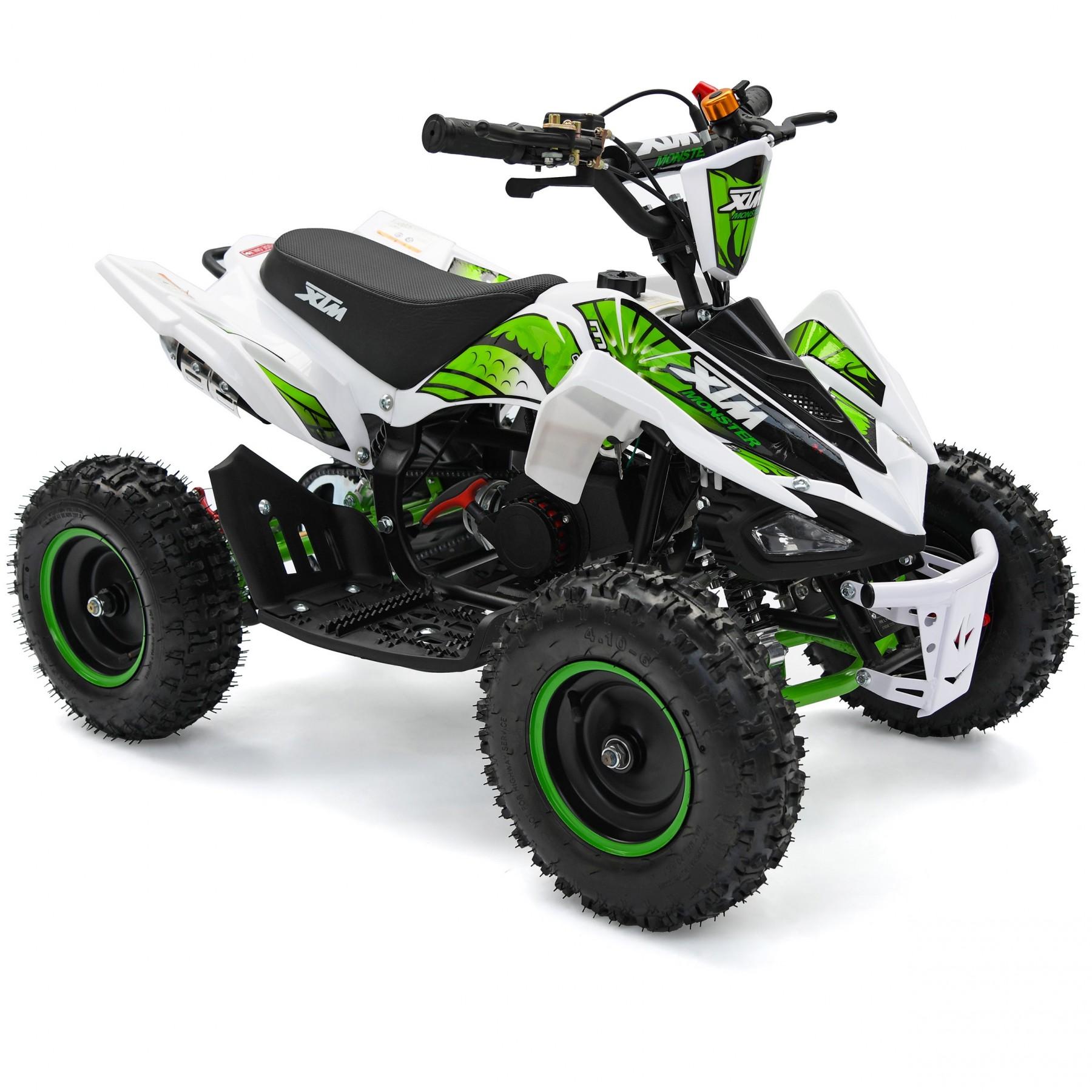 XTM MONSTER 50cc QUAD BIKE WHITE GREEN