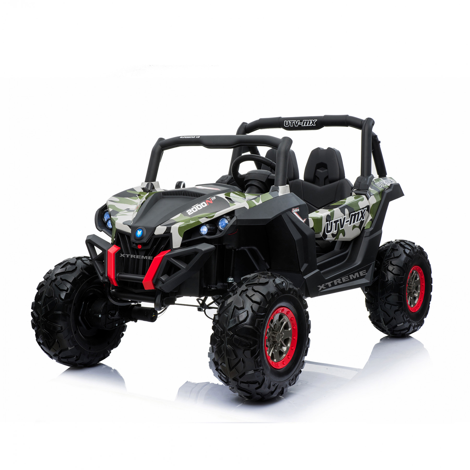 Xtreme 2018 BIG 24v Ride on 4x4 Jeep Camouflage Green