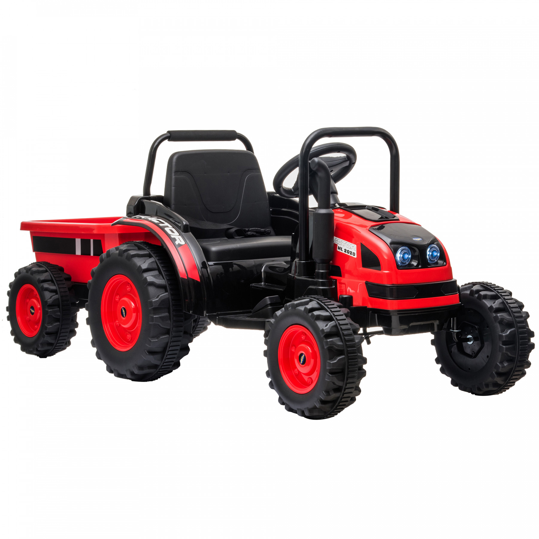 Xtreme 12V Ride on Electric Tractor With Trailer And 2.4G Remote Control Red