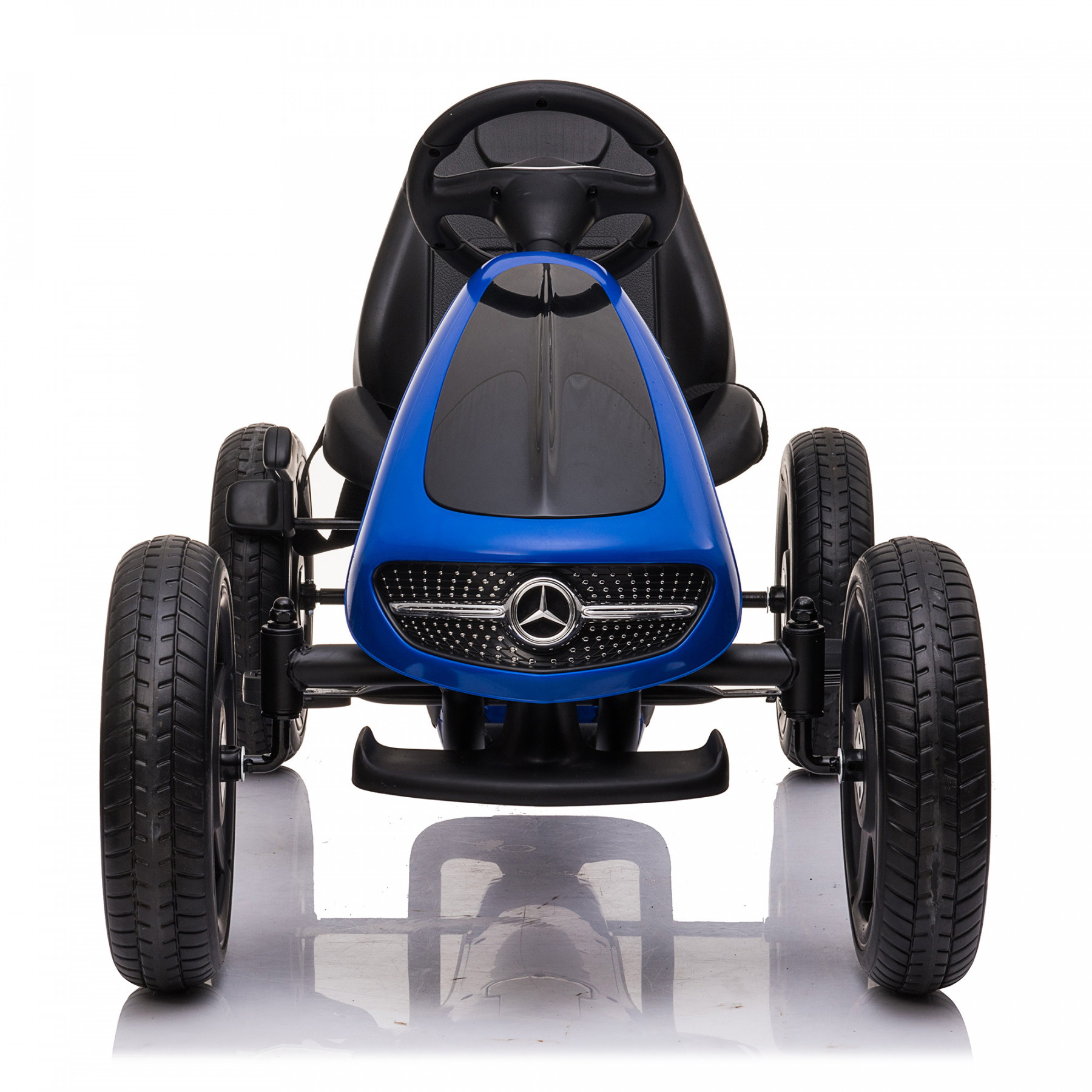 Xtreme Kids Official Licensed Mercedes Benz Go Kart with Hand Brake in Blue