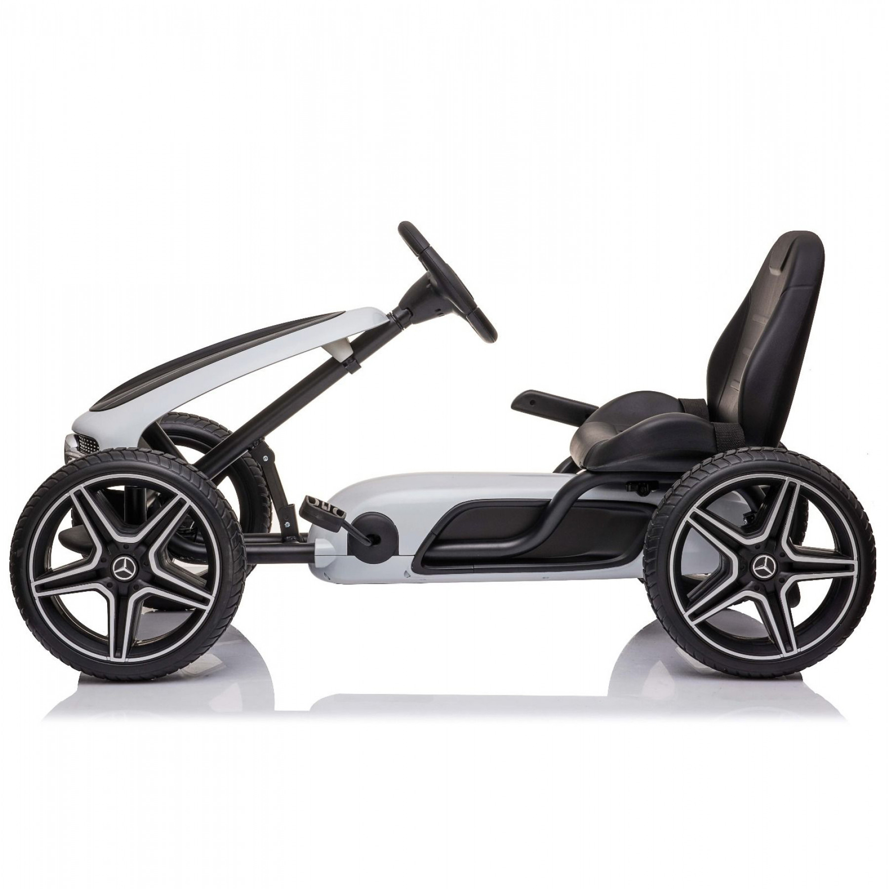 Xtreme Kids Official Licensed Mercedes Benz Go Kart with Hand Brake in White