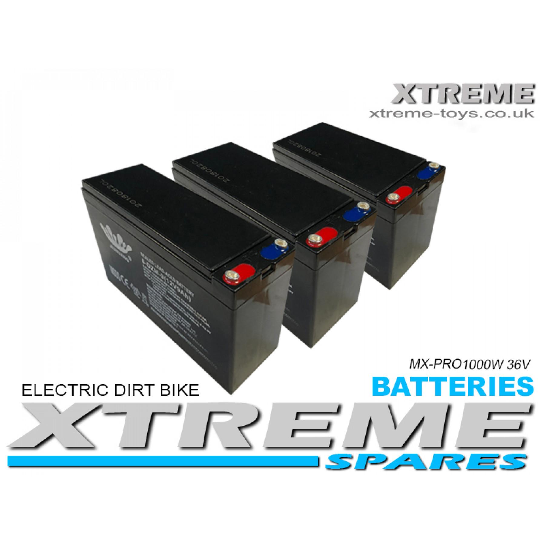 XTREME ELECTRIC XTM MX-PRO 36V 1000W REPLACEMENT BATTERY SET