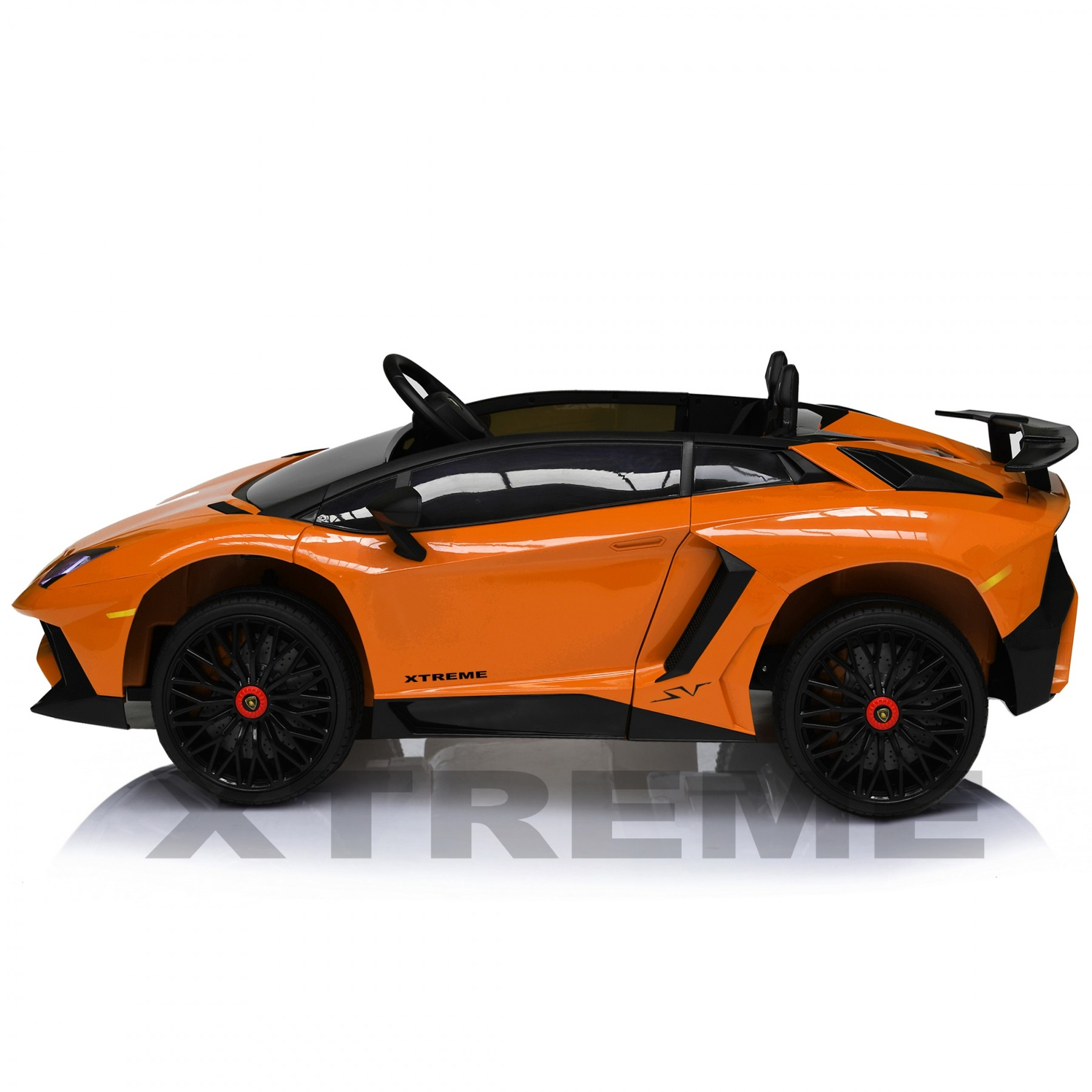 Xtreme 12v Official Licensed Lamborghini Aventador SV Ride on Car Orange