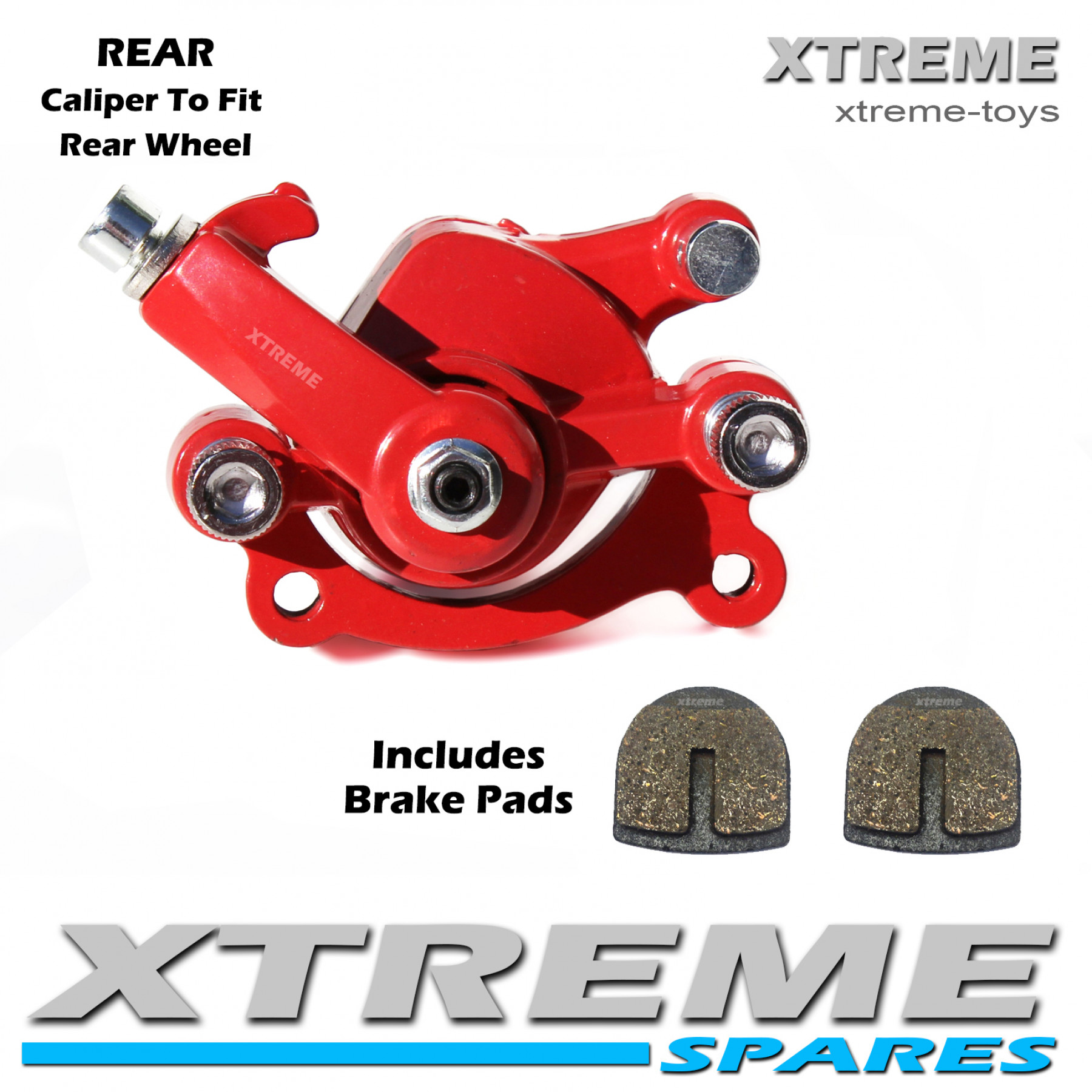 MINI MOTO DIRT BIKE RED REAR BRAKE CALIPER 50cc
