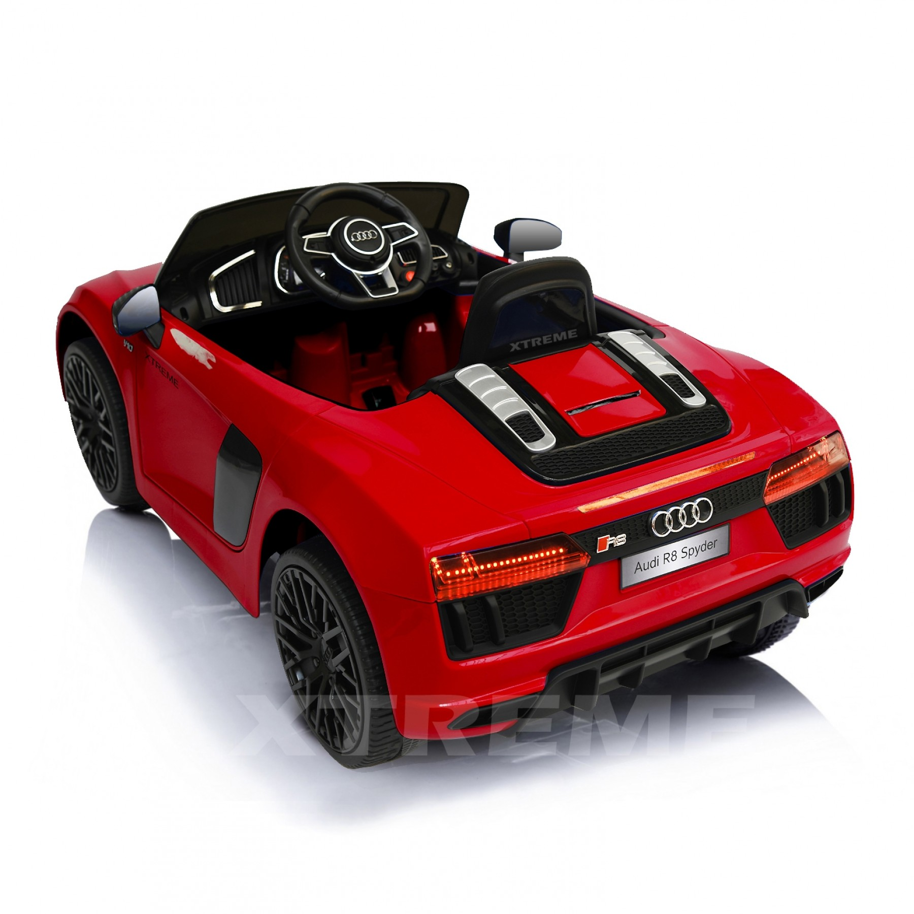 Xtreme 12v Official Licensed Audi R8 Spyder Ride on Car Red Single Headrest