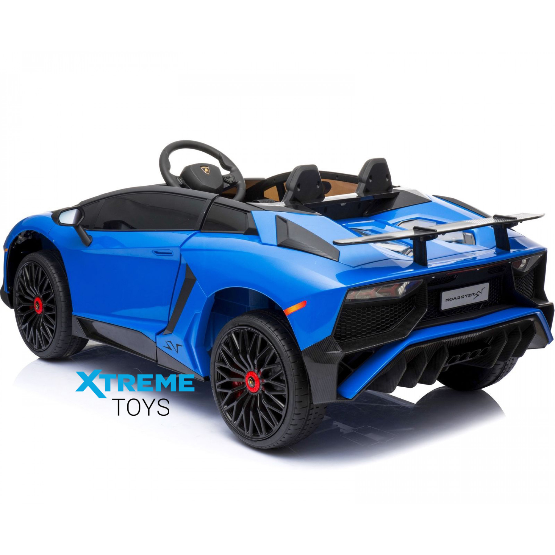 Xtreme 12v Official Licensed Lamborghini Aventador SV Ride on Car Blue
