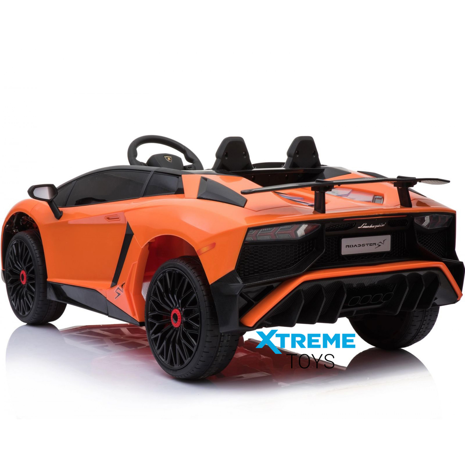 Xtreme 12v Official Licensed Lamborghini Aventador SV Ride on Car Orange