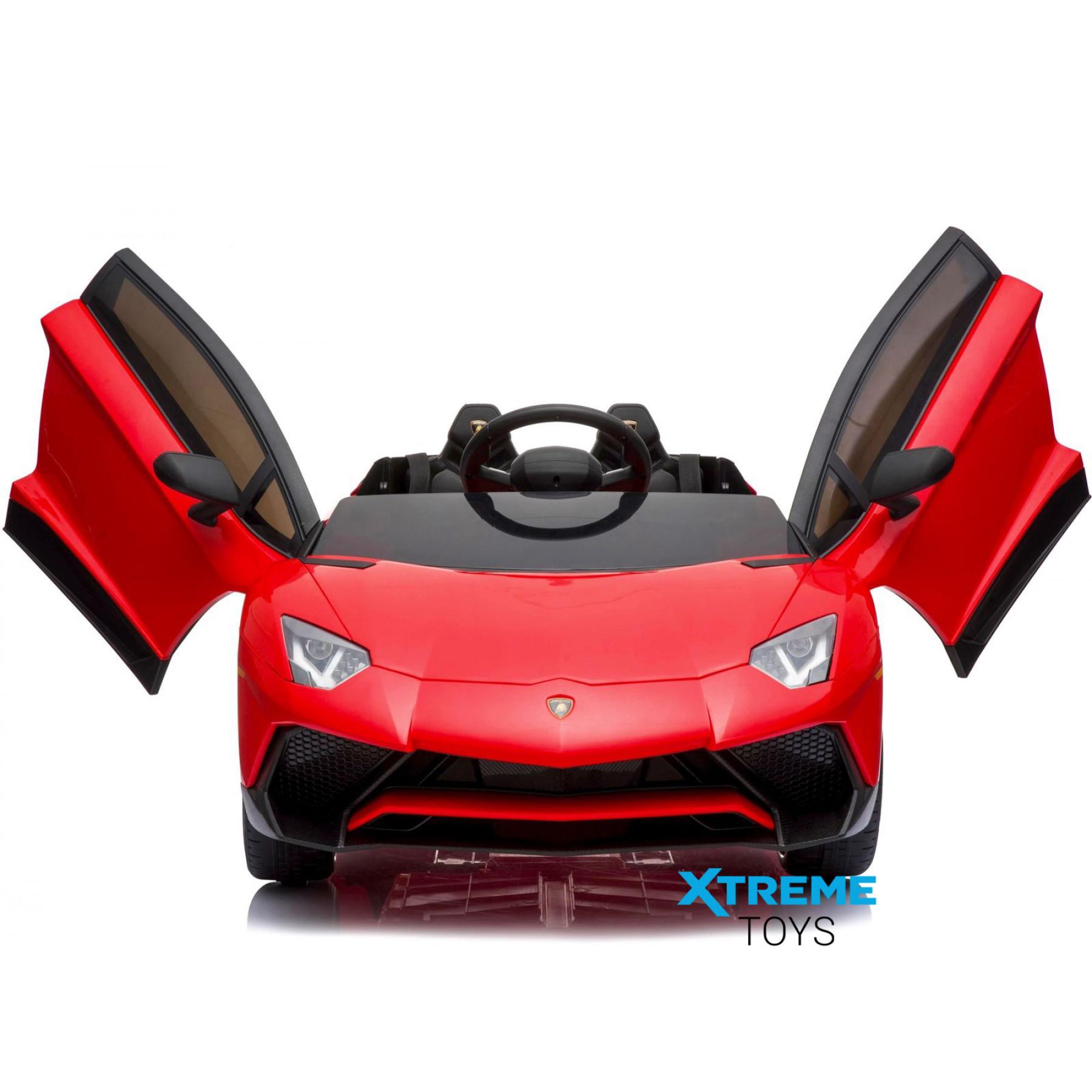 Xtreme 12v Official Licensed Lamborghini Aventador SV Ride on Car Red