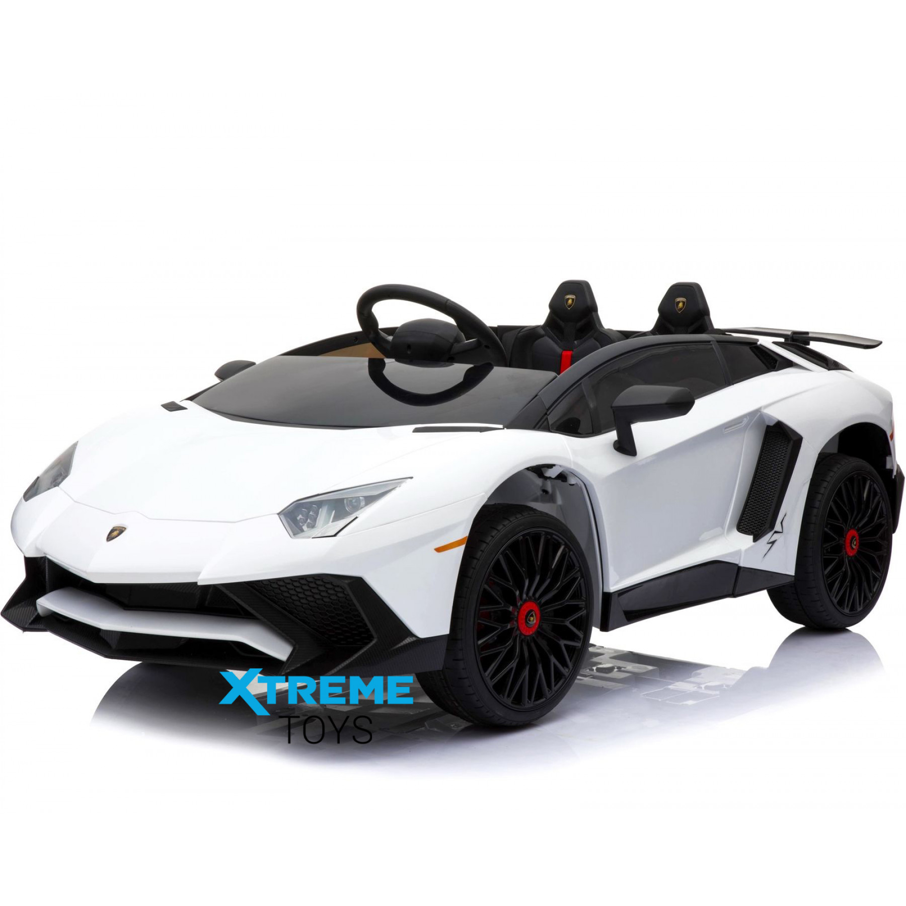 Xtreme 12v Official Licensed Lamborghini Aventador SV Ride on Car White
