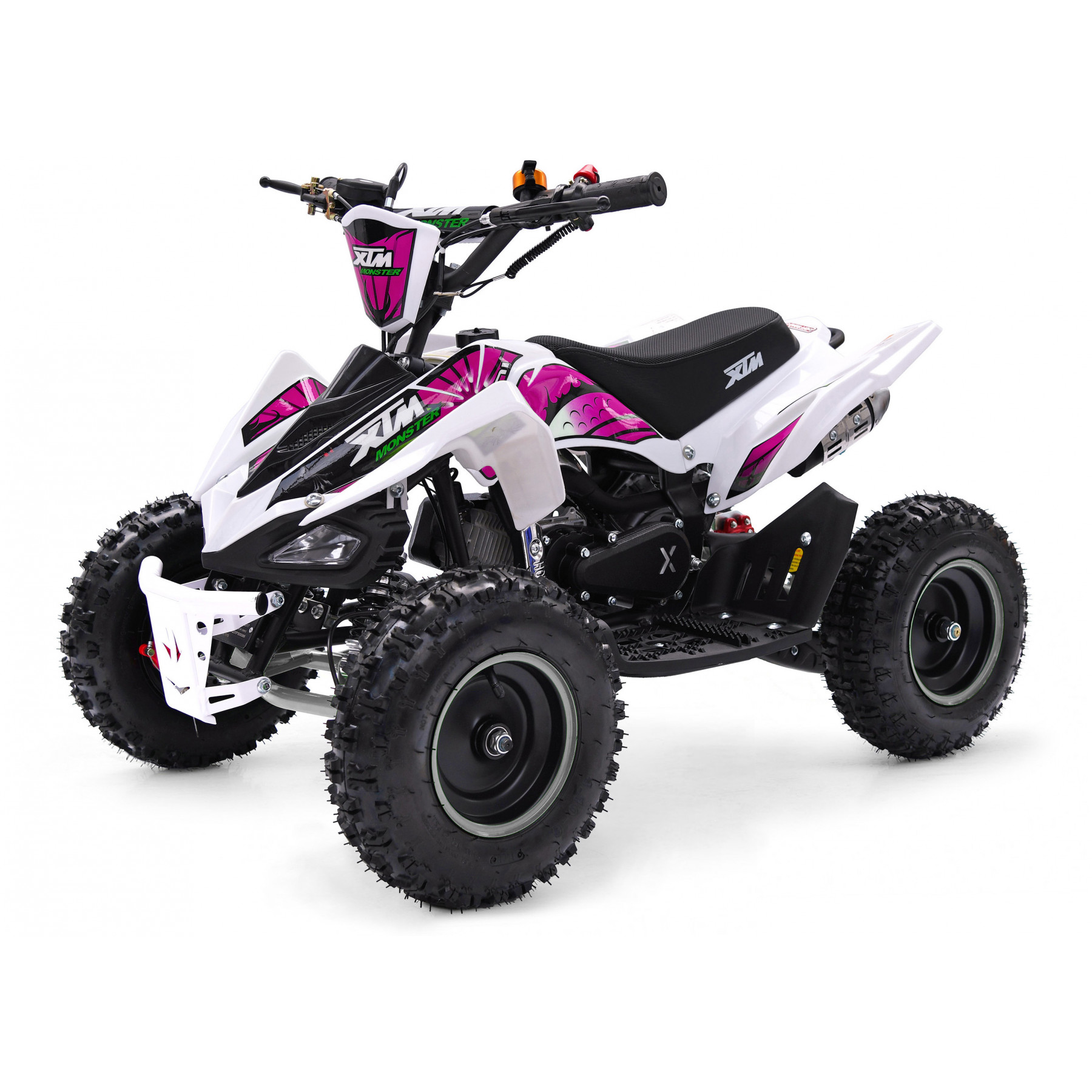 XTM MONSTER 50cc QUAD BIKE WHITE PINK