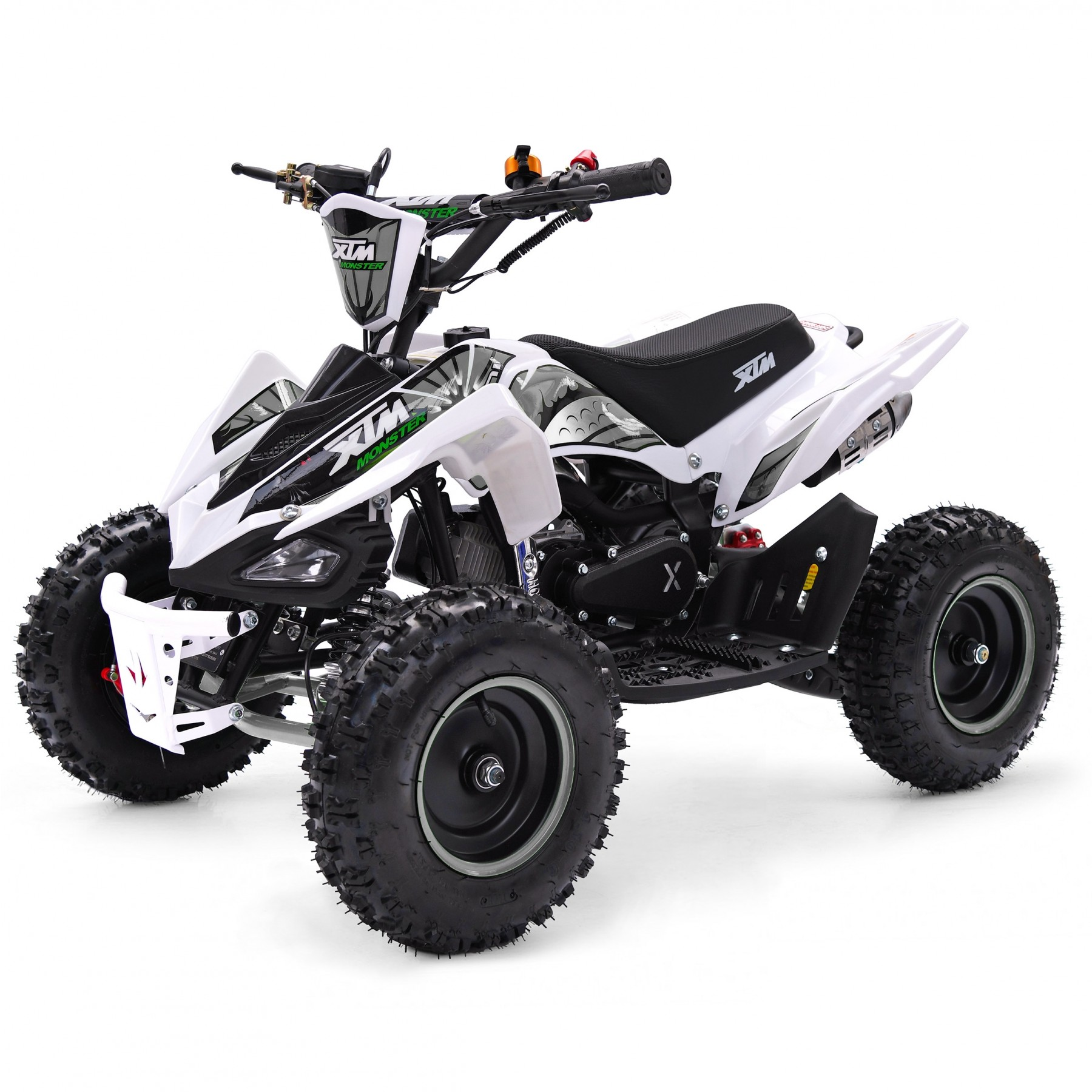 XTM MONSTER 50cc QUAD BIKE WHITE SILVER