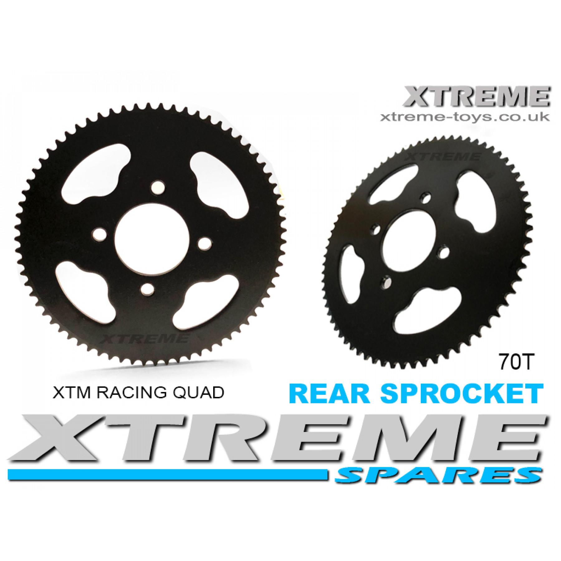 XTM RACING QUAD COMPLETE REAR SPROCKET 70T