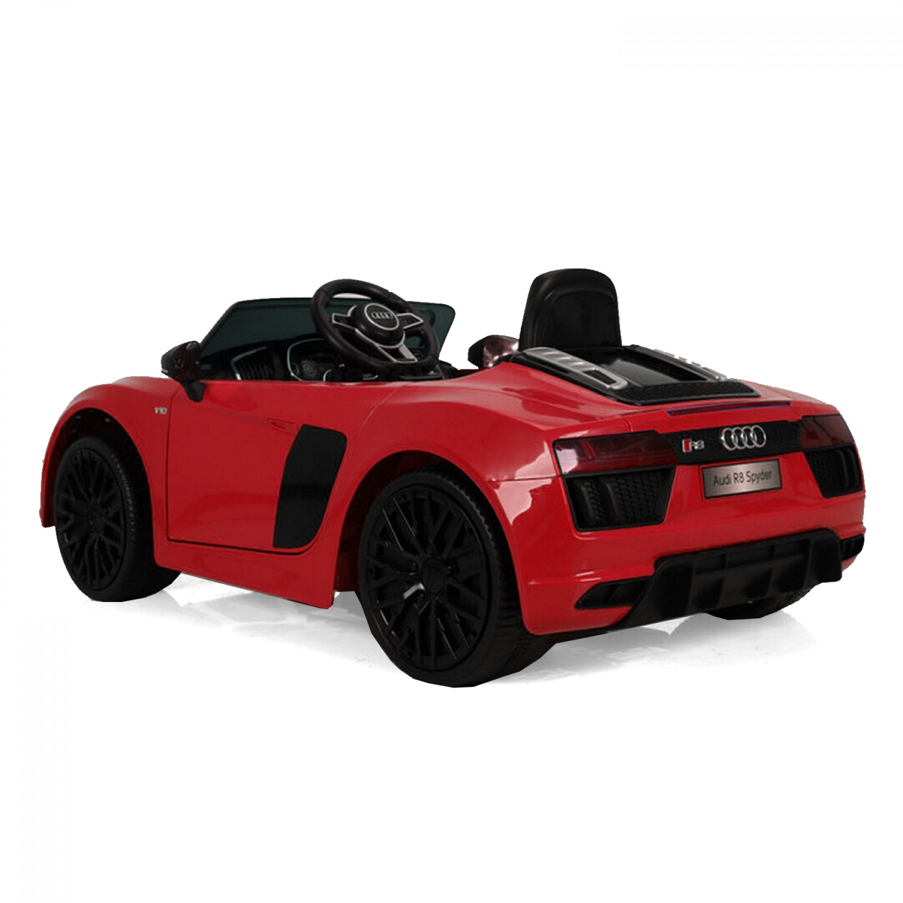 Xtreme 12v Official Licensed Audi R8 Spyder Ride on Car Red Double Headrest