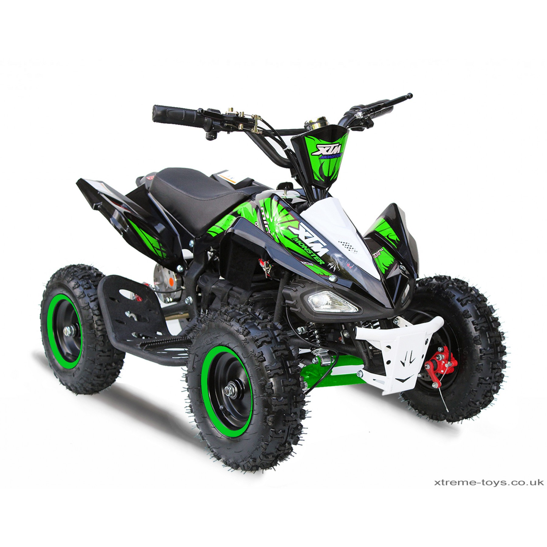 XTM MONSTER 36v 800w QUAD BIKE BLACK GREEN