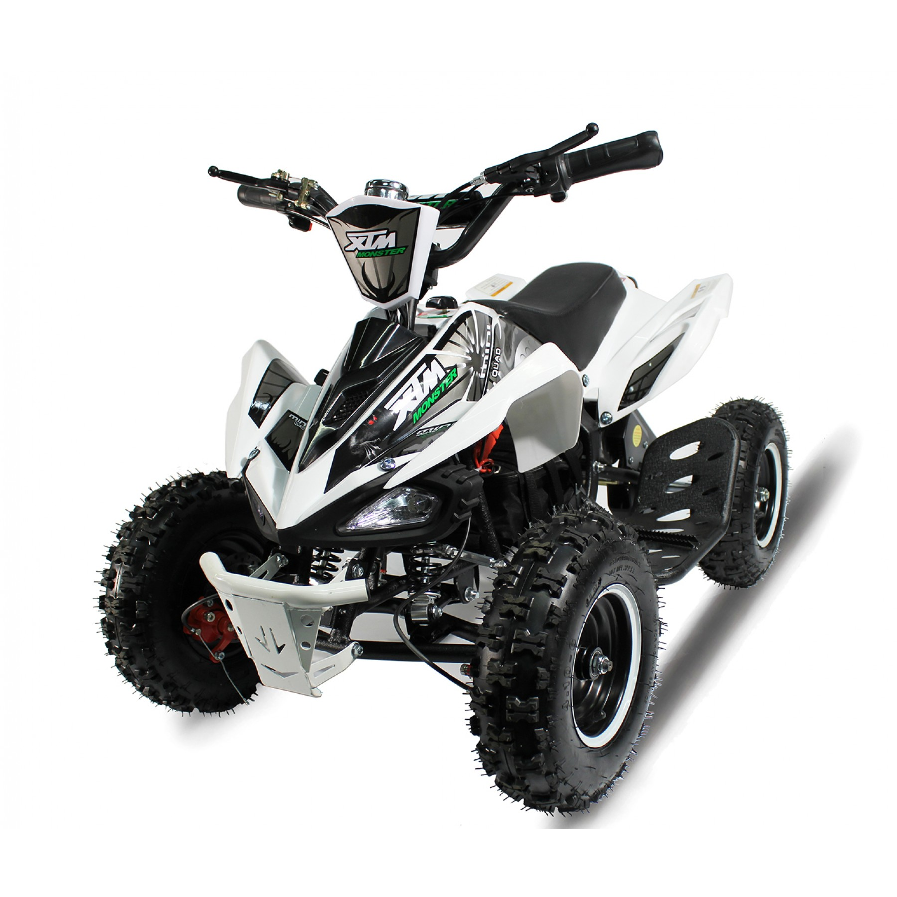 XTM MONSTER 36v 800w QUAD BIKE WHITE SILVER
