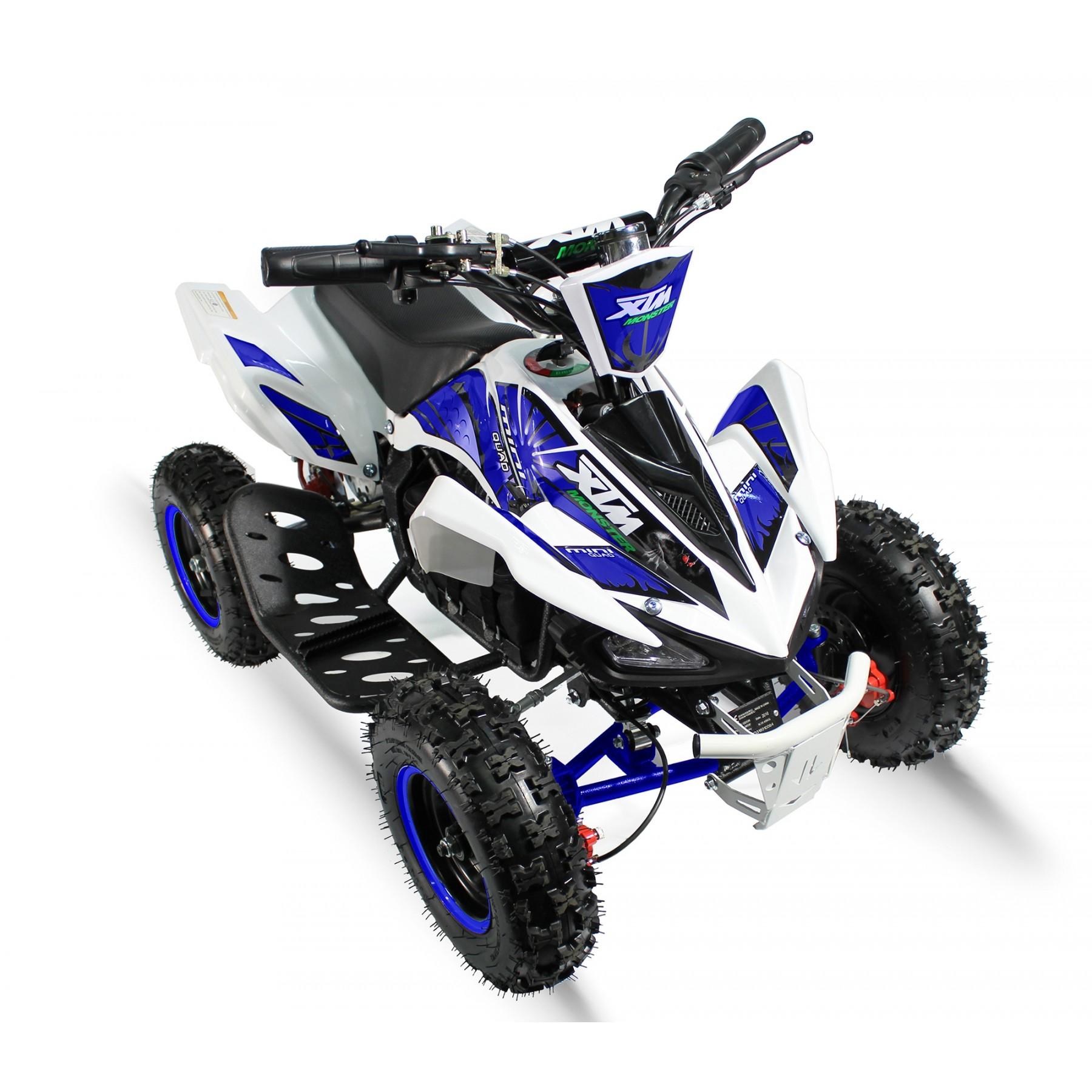 XTM MONSTER 36v 800w QUAD BIKE WHITE BLUE