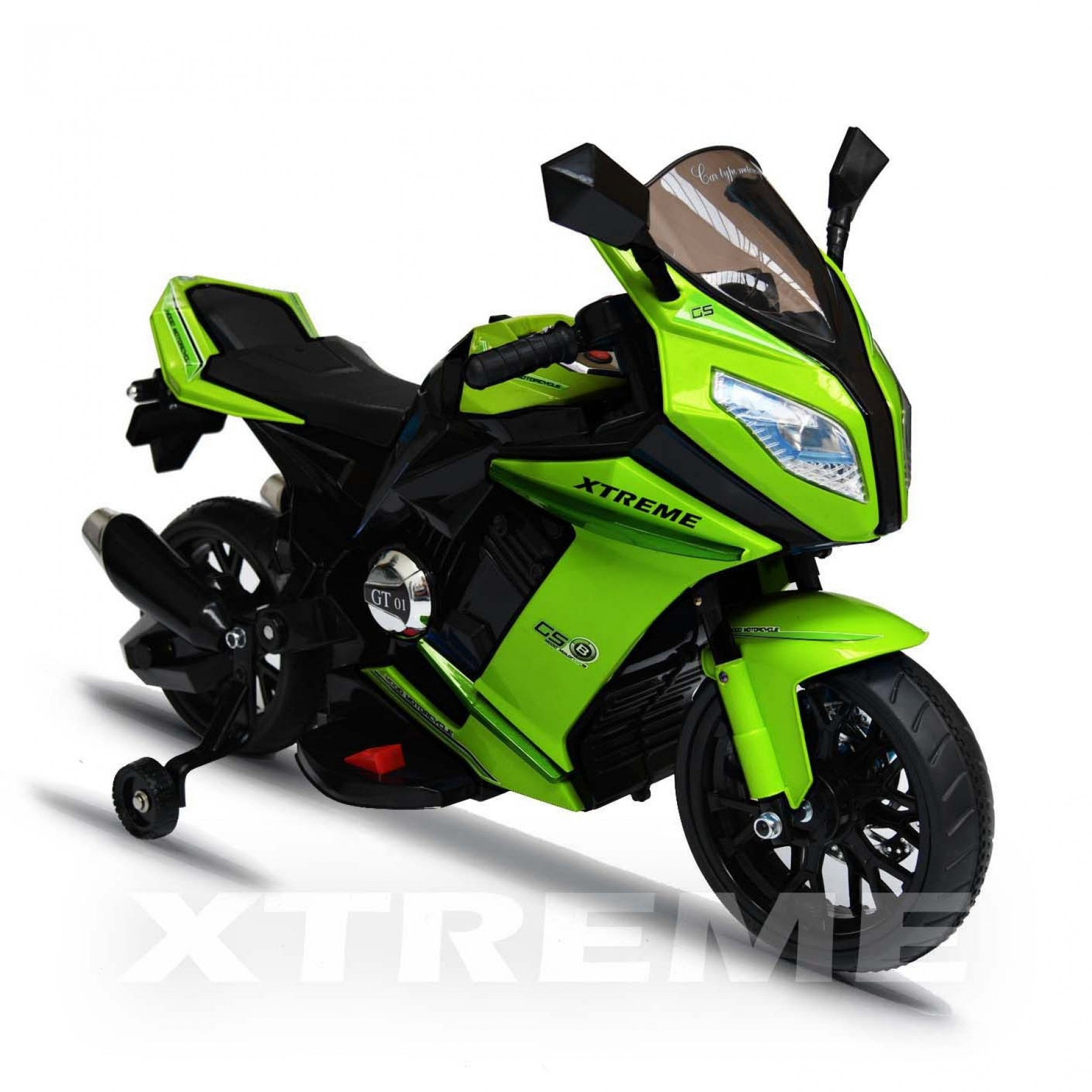 12v Xtreme Electric Motorbike Ride on Road Bike in Green