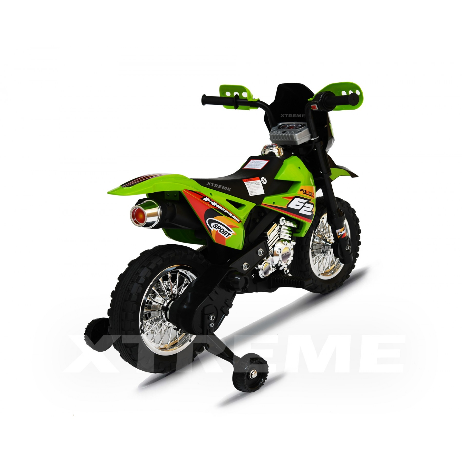 6v Xtreme Electric Scrambler Motorbike Ride on Car in Green