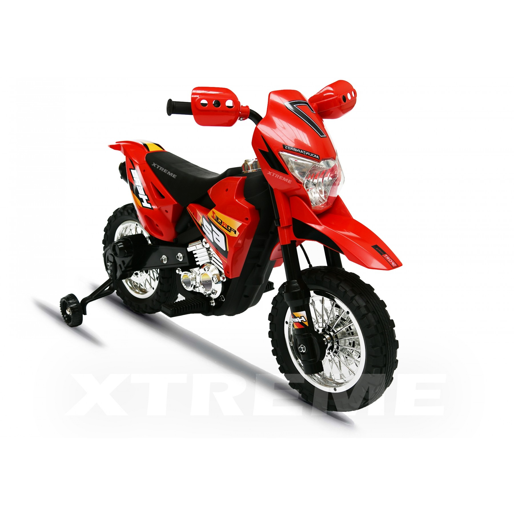 6v Xtreme Electric Scrambler Motorbike Ride on Car in Red