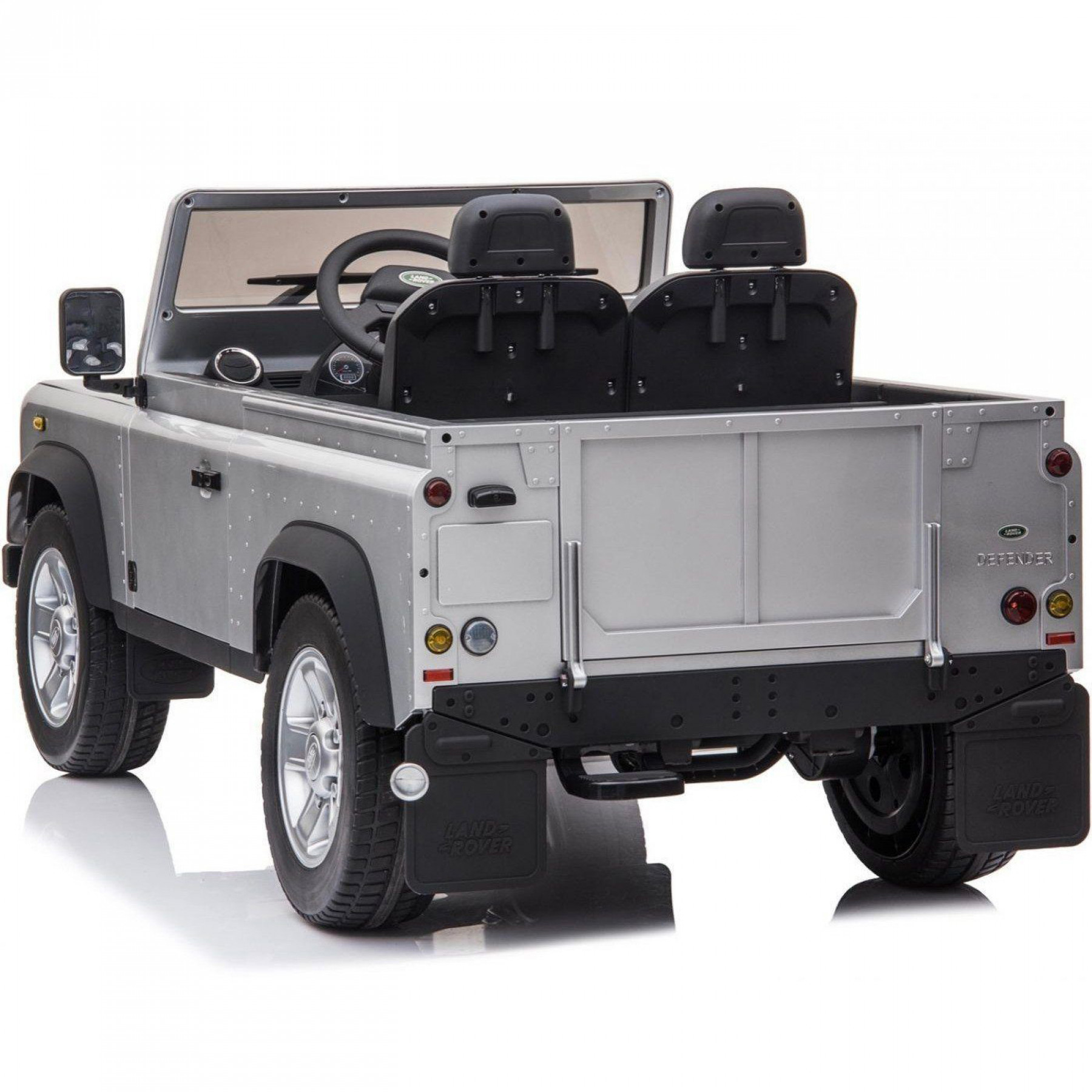 Xtreme 24V 4WD Licensed Land Rover Defender Ride on Electric Jeep Painted Silver