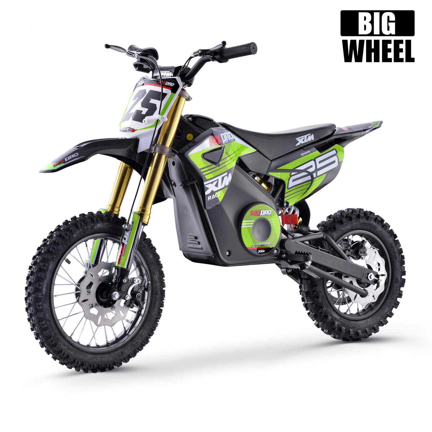 Xtm Mx Pro 48v 1300w Big Wheel Lithium Dirt Bike Green