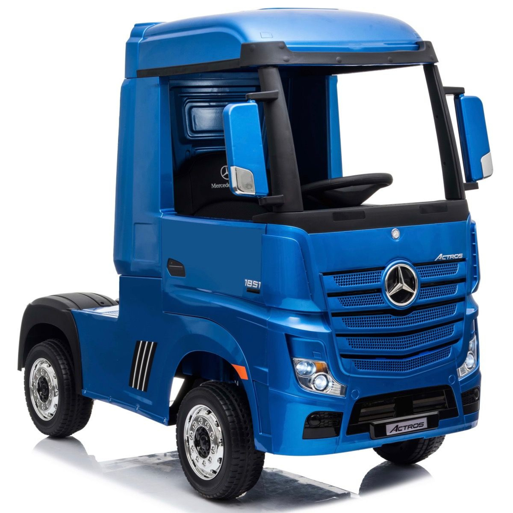 Xtreme 24V 4WD Licensed Mercedes Benz Ride on Electric Lorry Truck Painted Metallic Blue