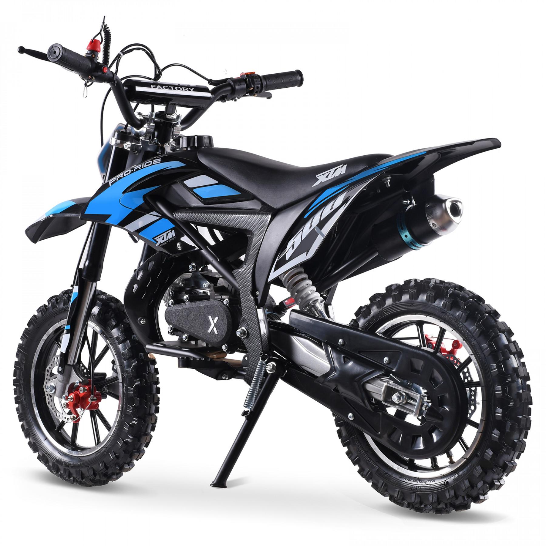 XTM PRO-RIDER 50cc DIRT BIKE BLACK BLUE