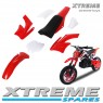 MINI NITRO DIRT BIKE / MOTOR BIKE COMPLETE RED PLASTICS KIT