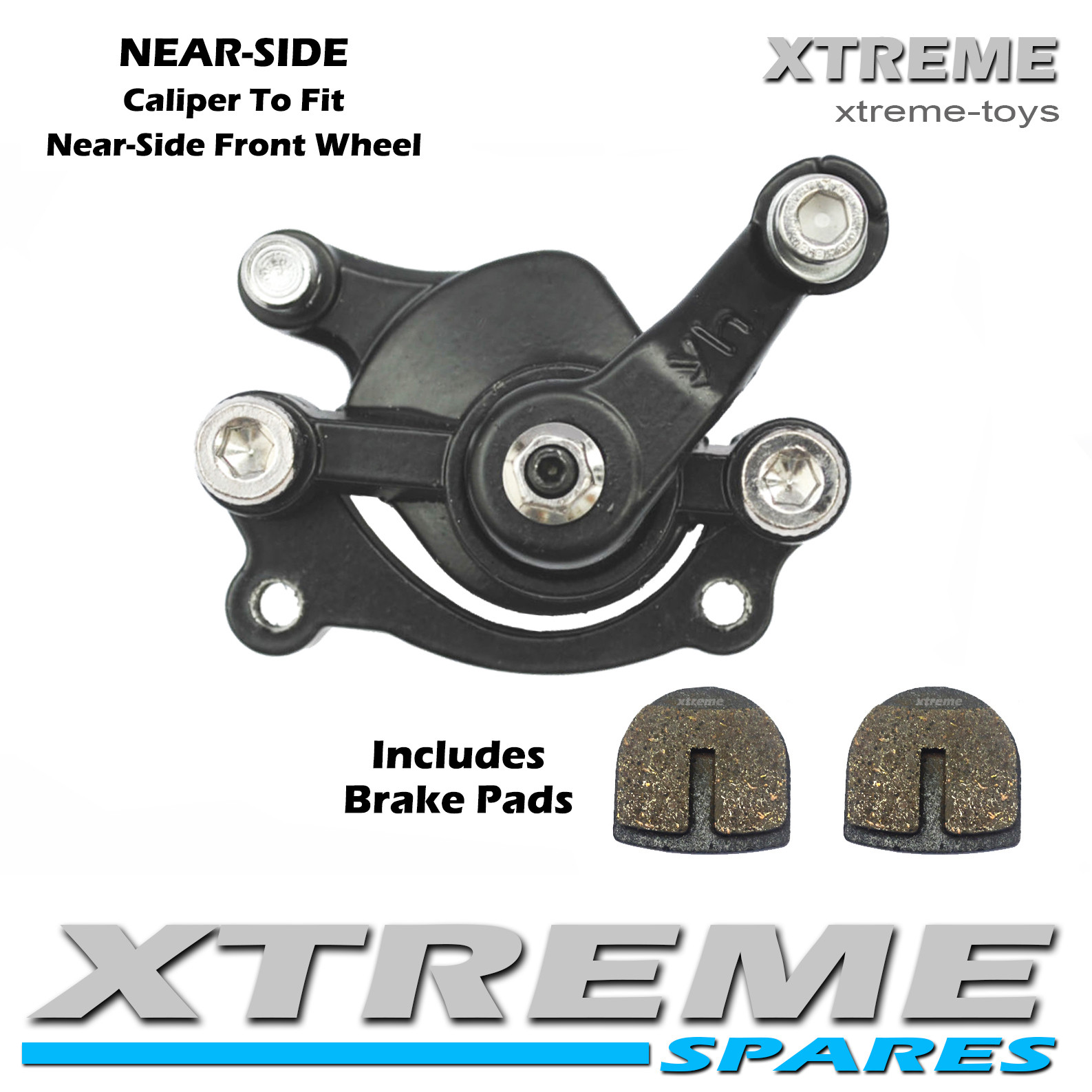 XTM MONSTER QUAD FRONT NEAR-SIDE BRAKE CALIPER WITH BRAKE PADS