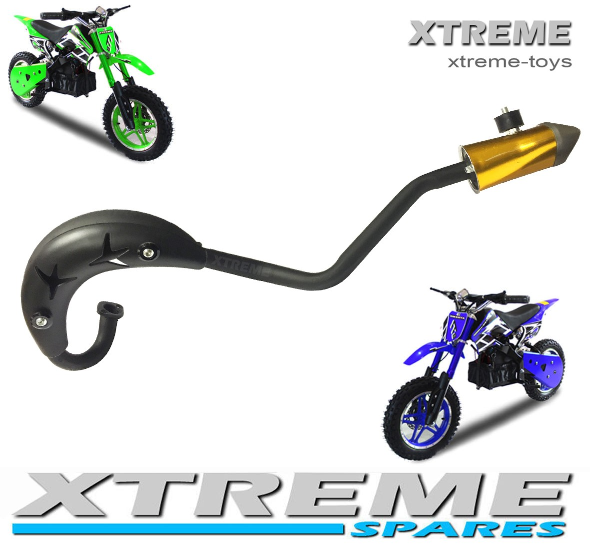 MINI MOTO/ DIRT BIKE/ PIT BIKE COMPLETE EXHAUST PIPE SET WITH EXHAUST COVER 49-50cc