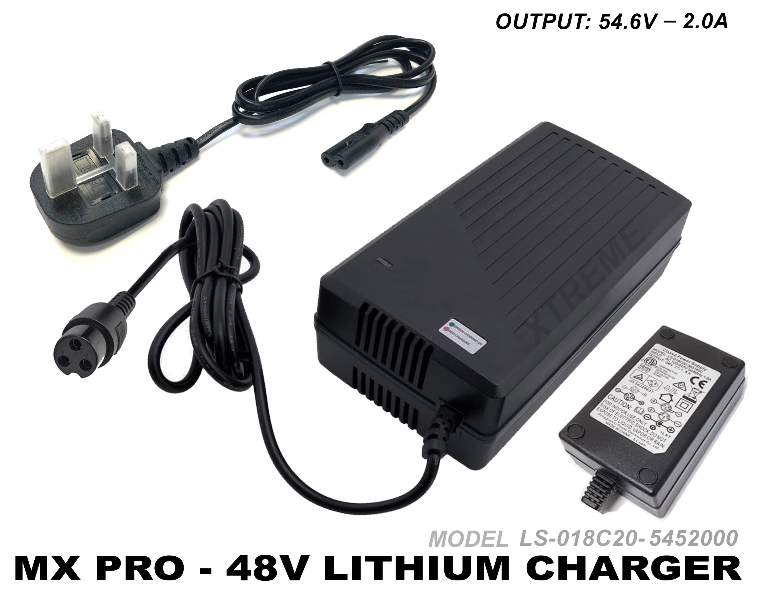 XTM RACING/ MXPRO 1300W LITHIUM BATTERY CHARGER ELECTRIC 48v