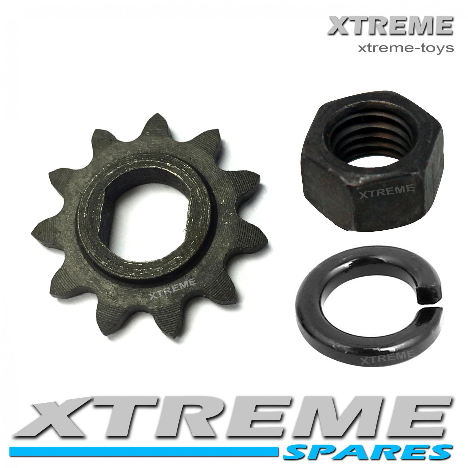 MINI XTM ELECTRIC DIRT BIKE 24v / 36v 500w 11 TOOTH SPROCKET / SPRING WASHER / NUT FOR MOTOR