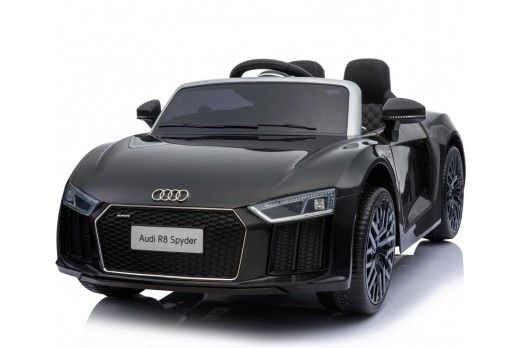 Xtreme 12v Official Licensed Audi R8 Spyder Ride on Car Black Double Headrest